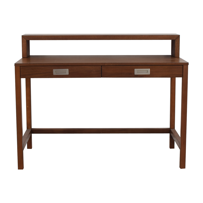Crate & Barrel Crate & Barrel Aspect Walnut Modular Desk with Hutch nj