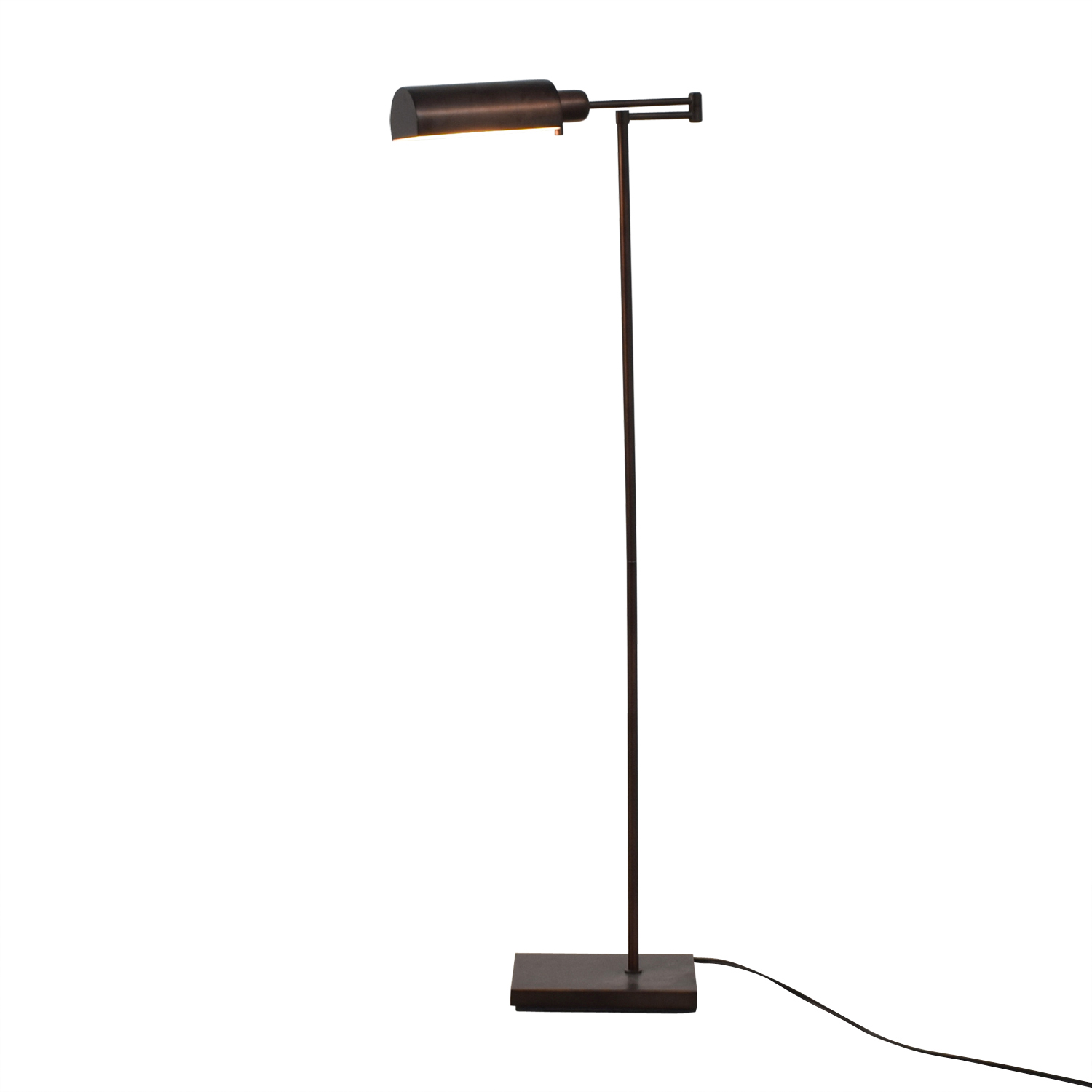 Crate & Barrel Adams Bronze Pharmacy Floor Lamp / Sofas