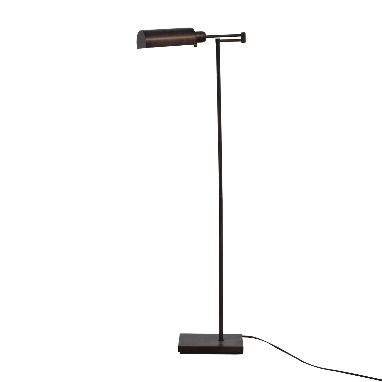 Crate & Barrel Crate & Barrel Adams Bronze Pharmacy Floor Lamp dimensions