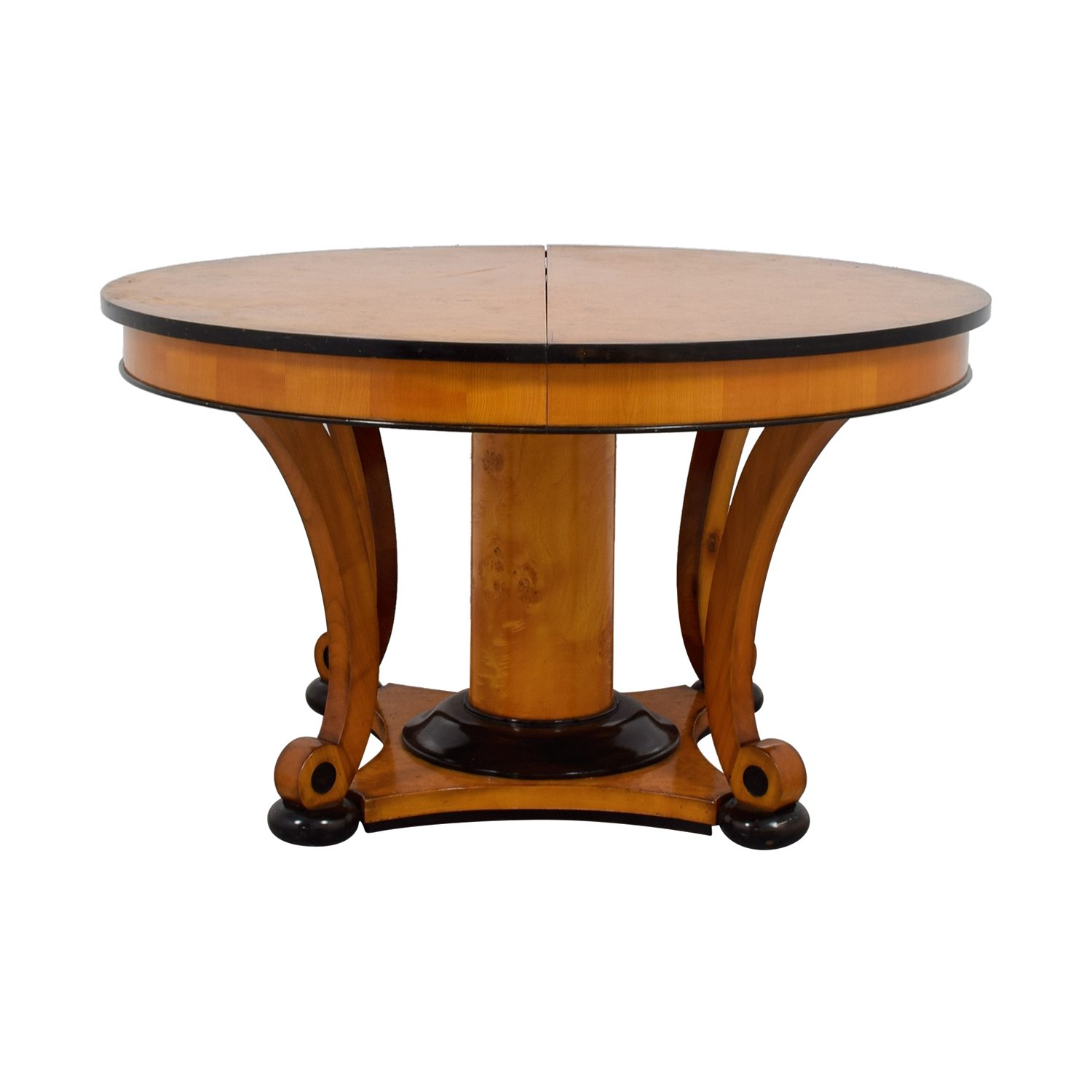 Bloomingdale's Beidermeider Round Cherry Wood  Dining Table Bloomingdale's