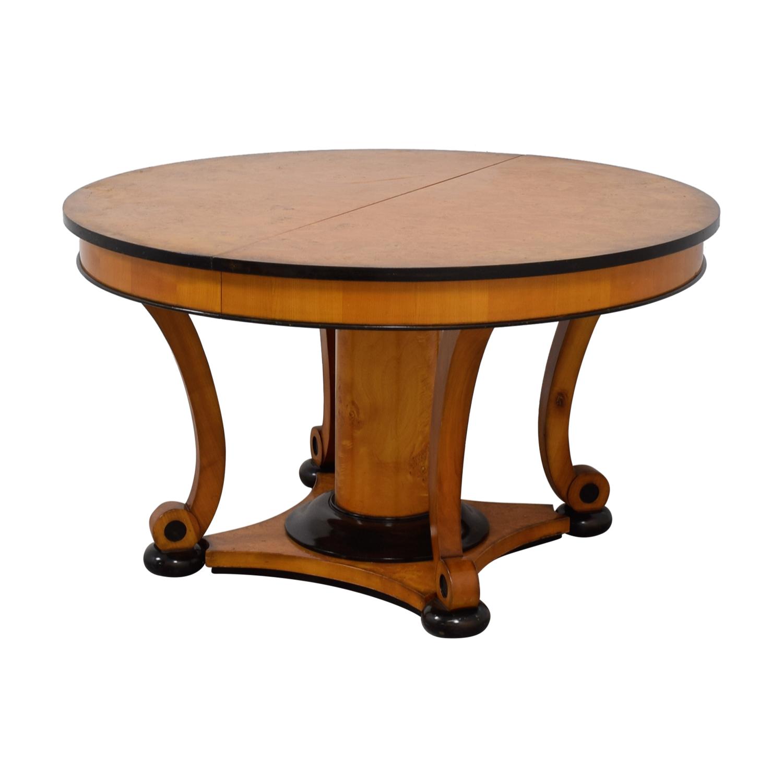 Bloomingdale's Bloomingdale's Beidermeider Round Cherry Wood  Dining Table second hand