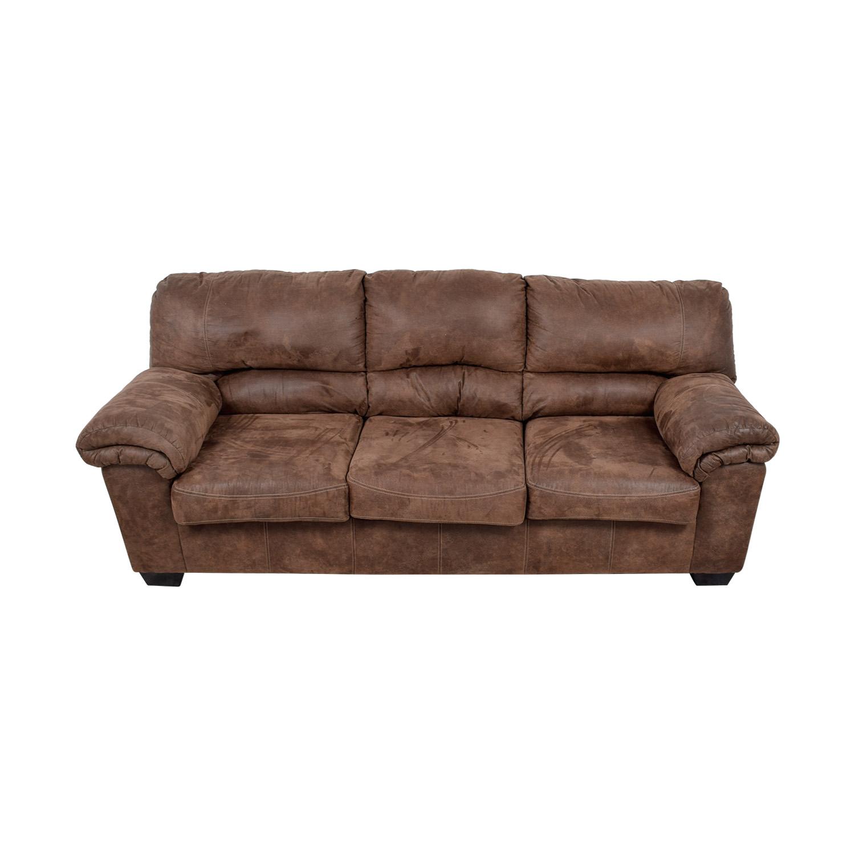 Ashley Furniture Ashley Furniture Brown Three-Cushion Sofa