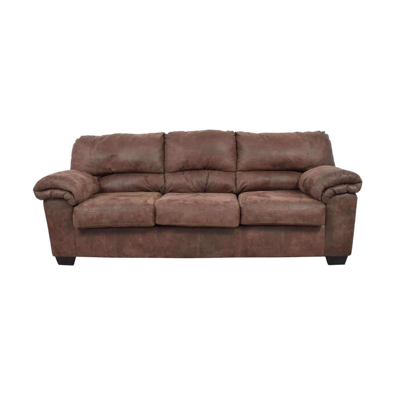 Ashley Furniture Brown Three Cushion Sofa Dimensions