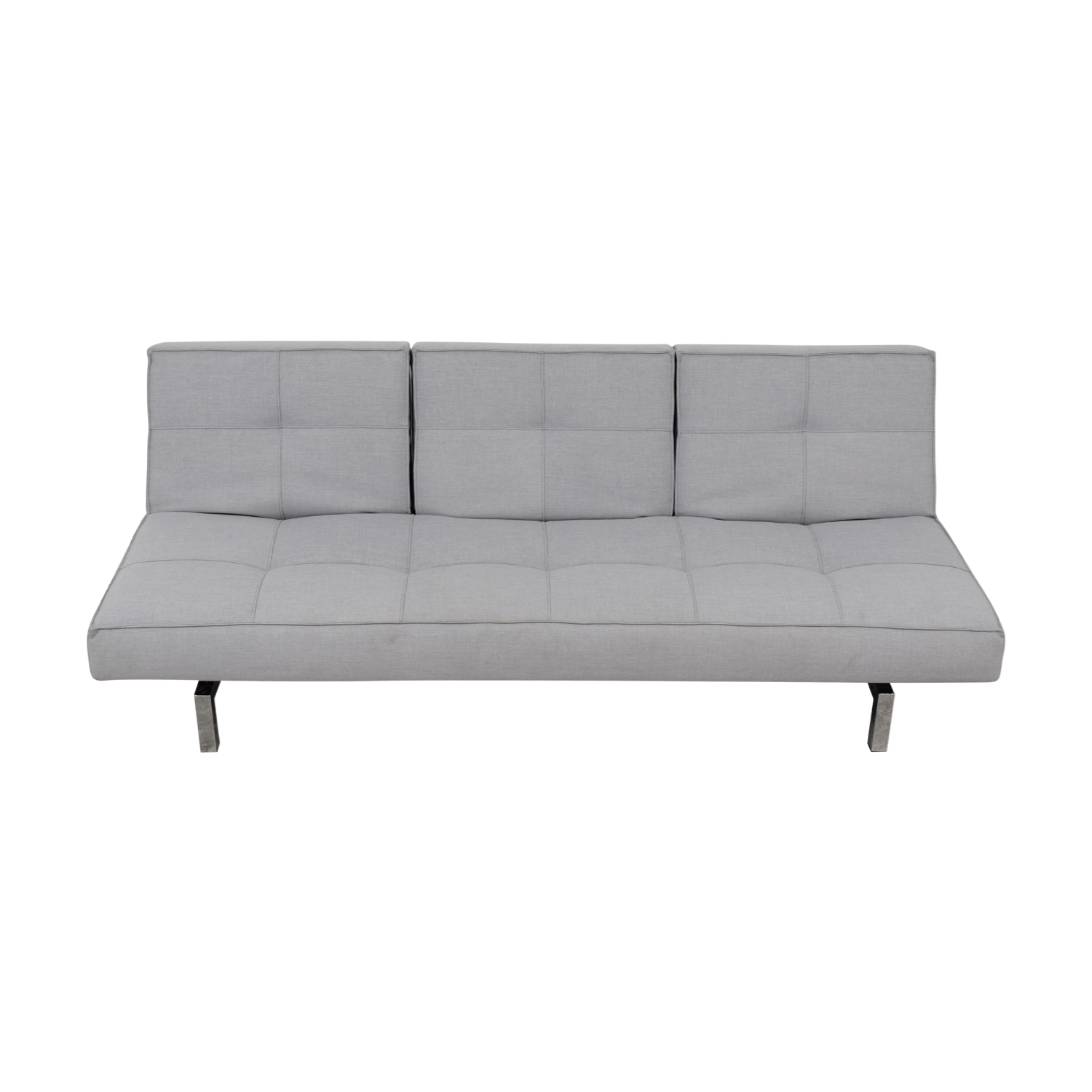 Innovation Convertible Grey Tufted Sleeper Sofa Innovation