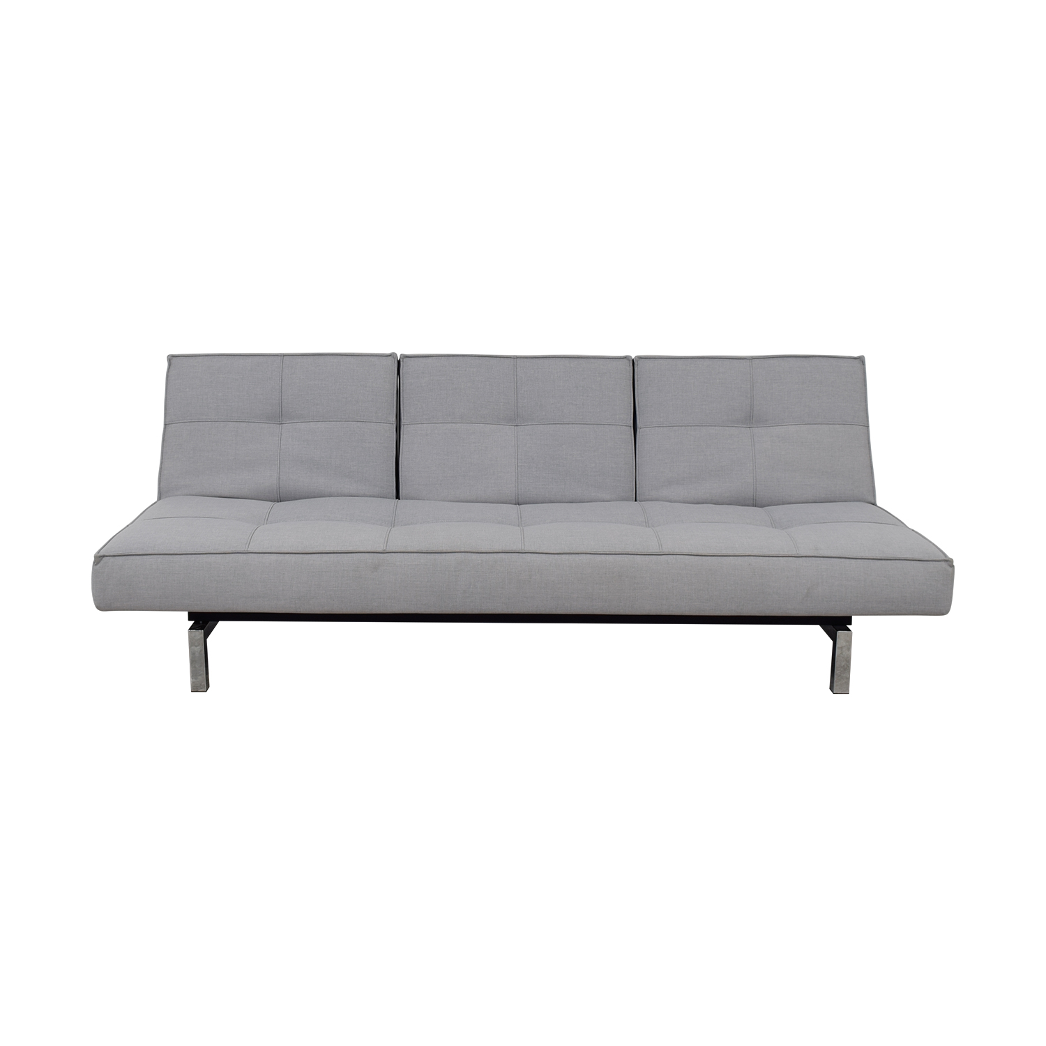 Innovation Convertible Grey Tufted Sleeper Sofa sale
