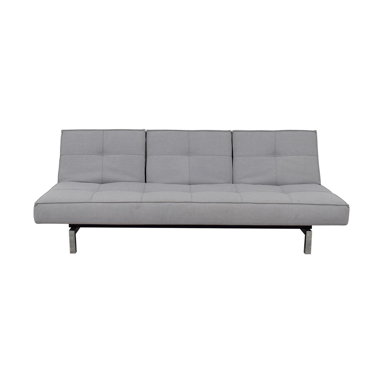 Innovation Convertible Grey Tufted Sleeper Sofa sale