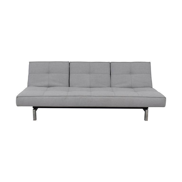 shop Innovation Innovation Convertible Grey Tufted Sleeper Sofa online