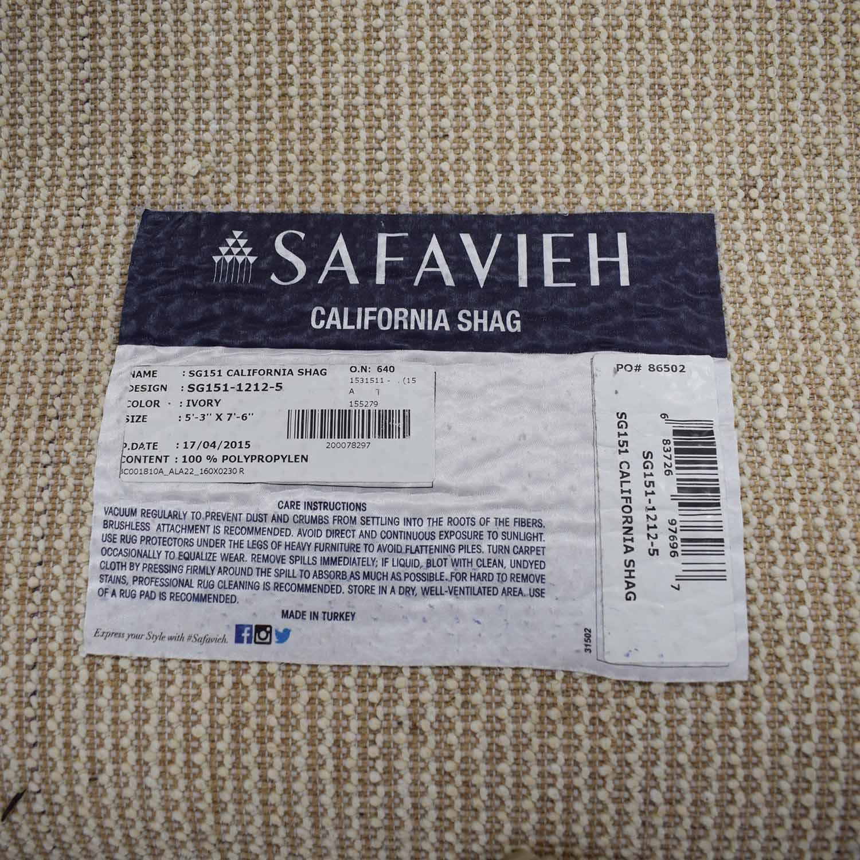 Safavieh Safavieh Beige Shag Rug used