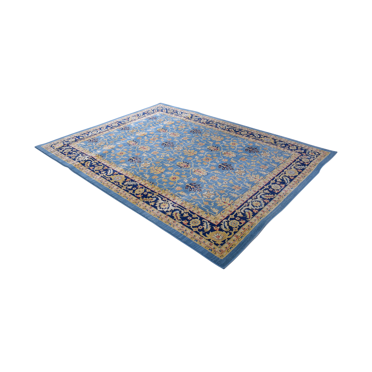 Safavieh Safavieh Light Blue and Navy Rug