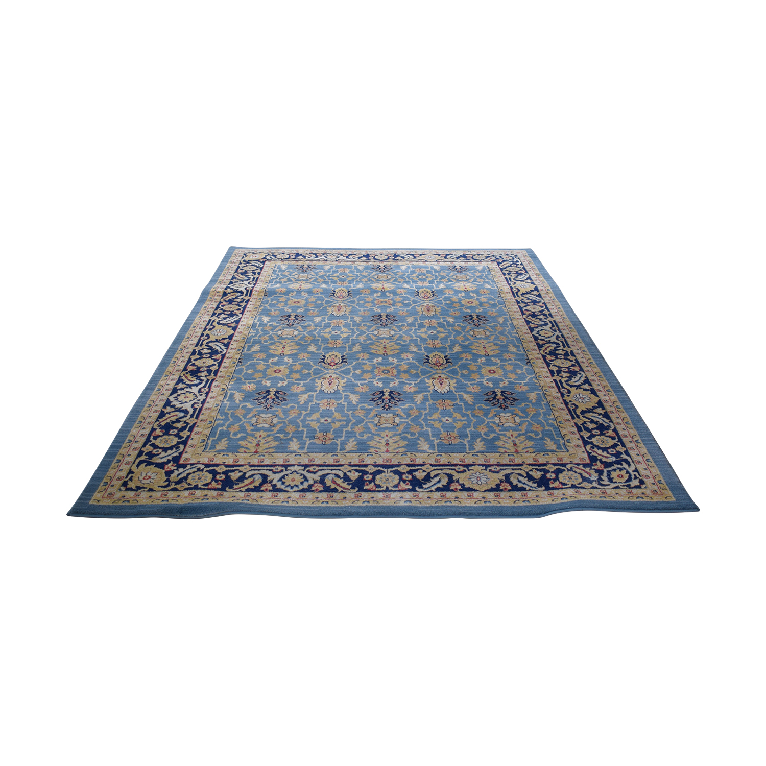 Safavieh Light Blue and Navy Rug Safavieh
