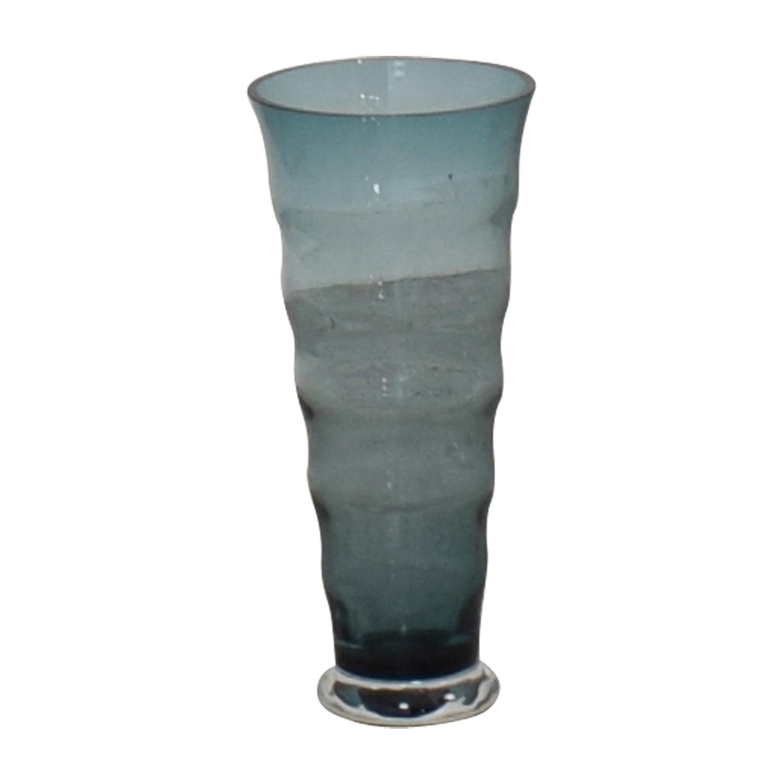 Aqua Blue Fluted Vase discount