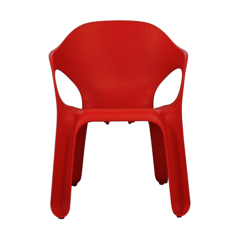 Magis Magic Red Molded Easy Chair by Jerszy Seymour used
