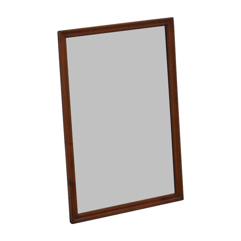 Vintage Wood Framed Mirror