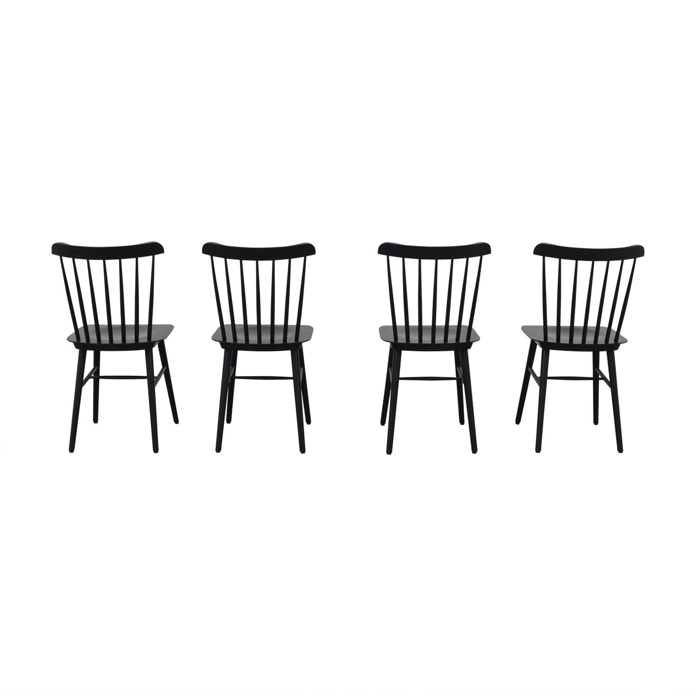 Design Within Reach Black Salt Chairs sale