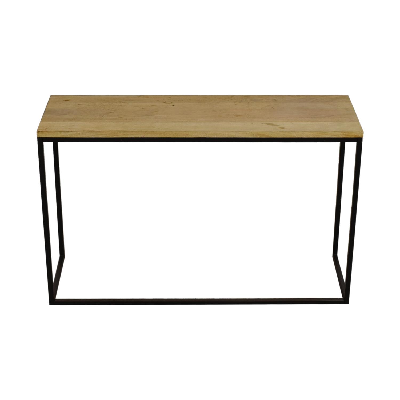 buy West Elm Block Wood Console Side Table West Elm Sofas