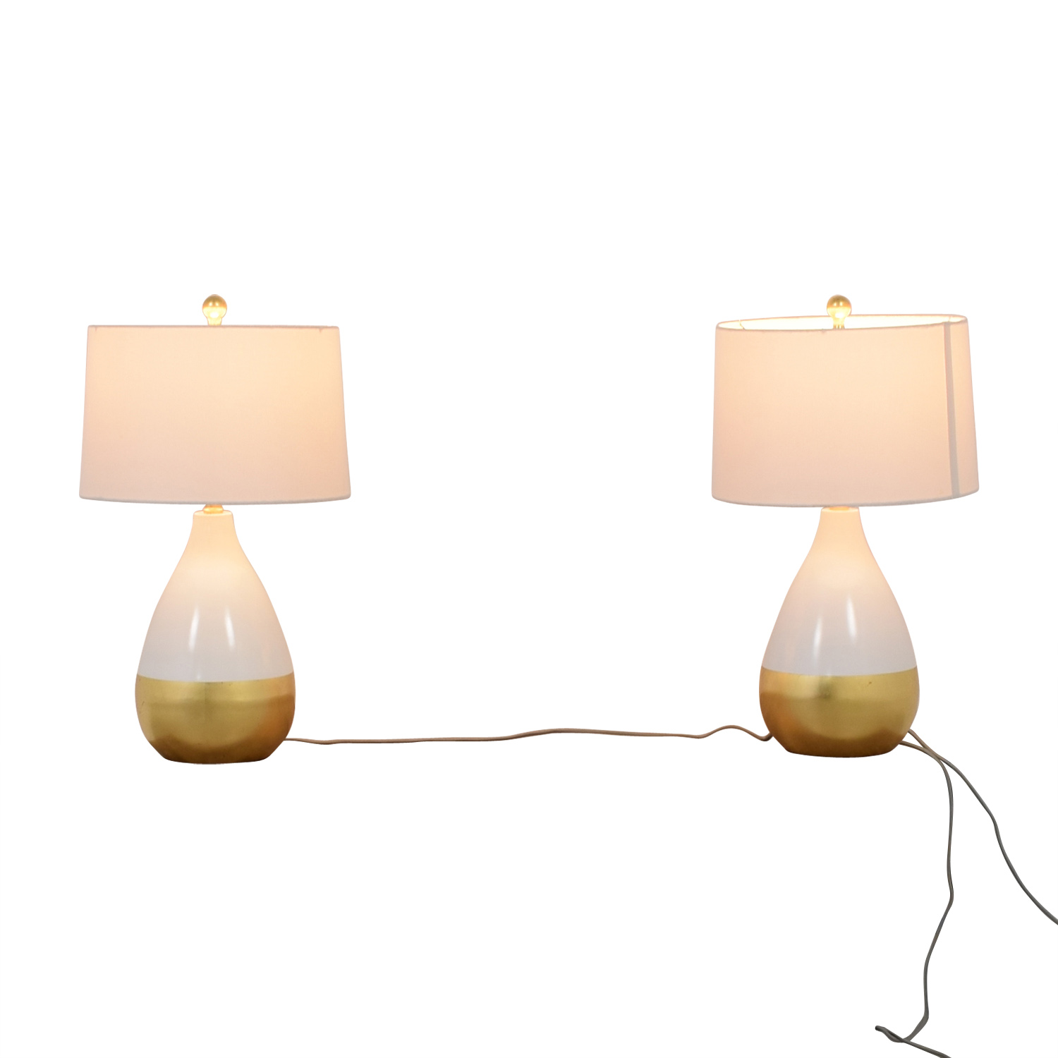 Savafieh Savafieh White and Gold Lamps discount