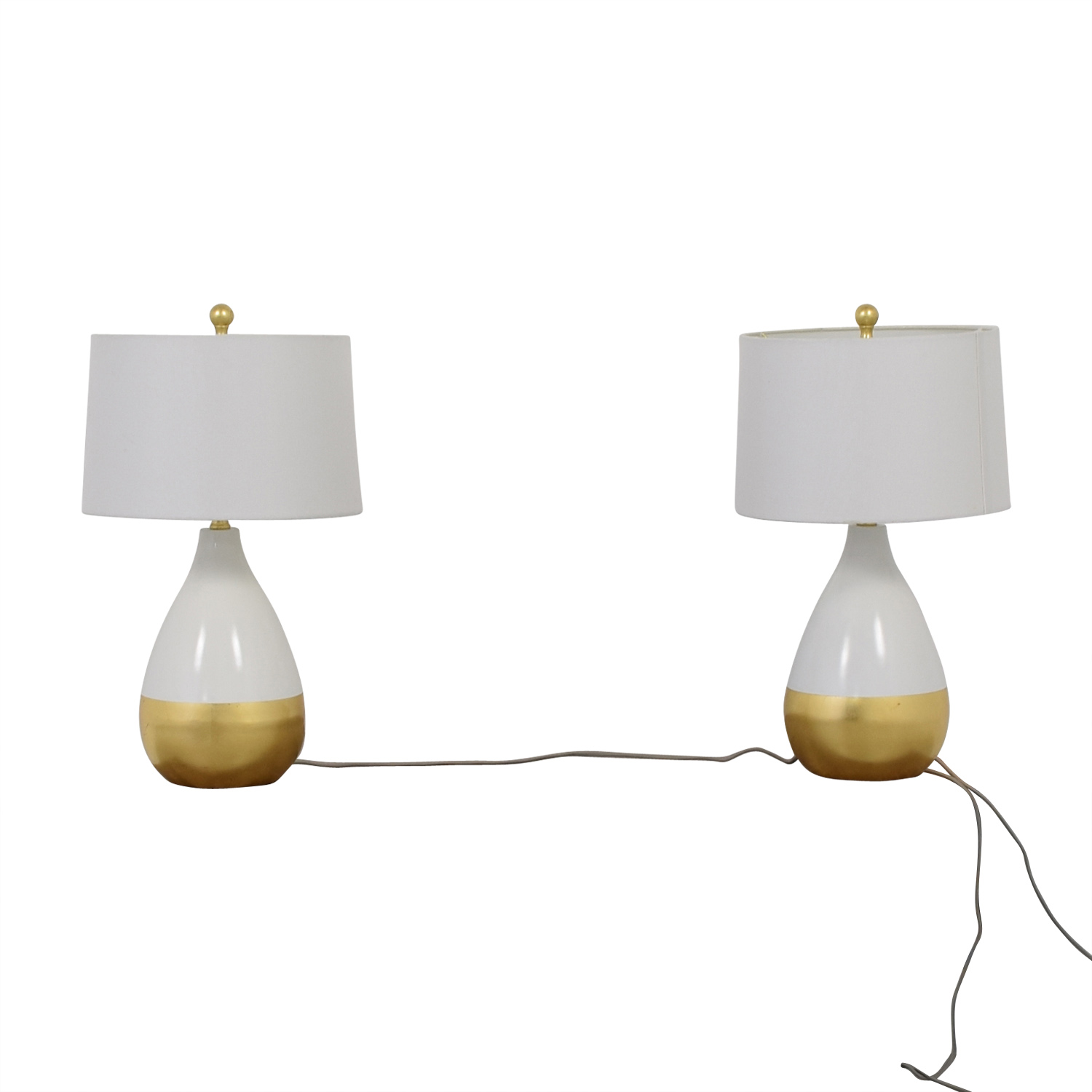 Savafieh Savafieh White and Gold Lamps price
