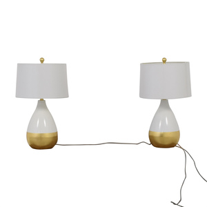 Safavieh Savafieh White and Gold Lamps discount