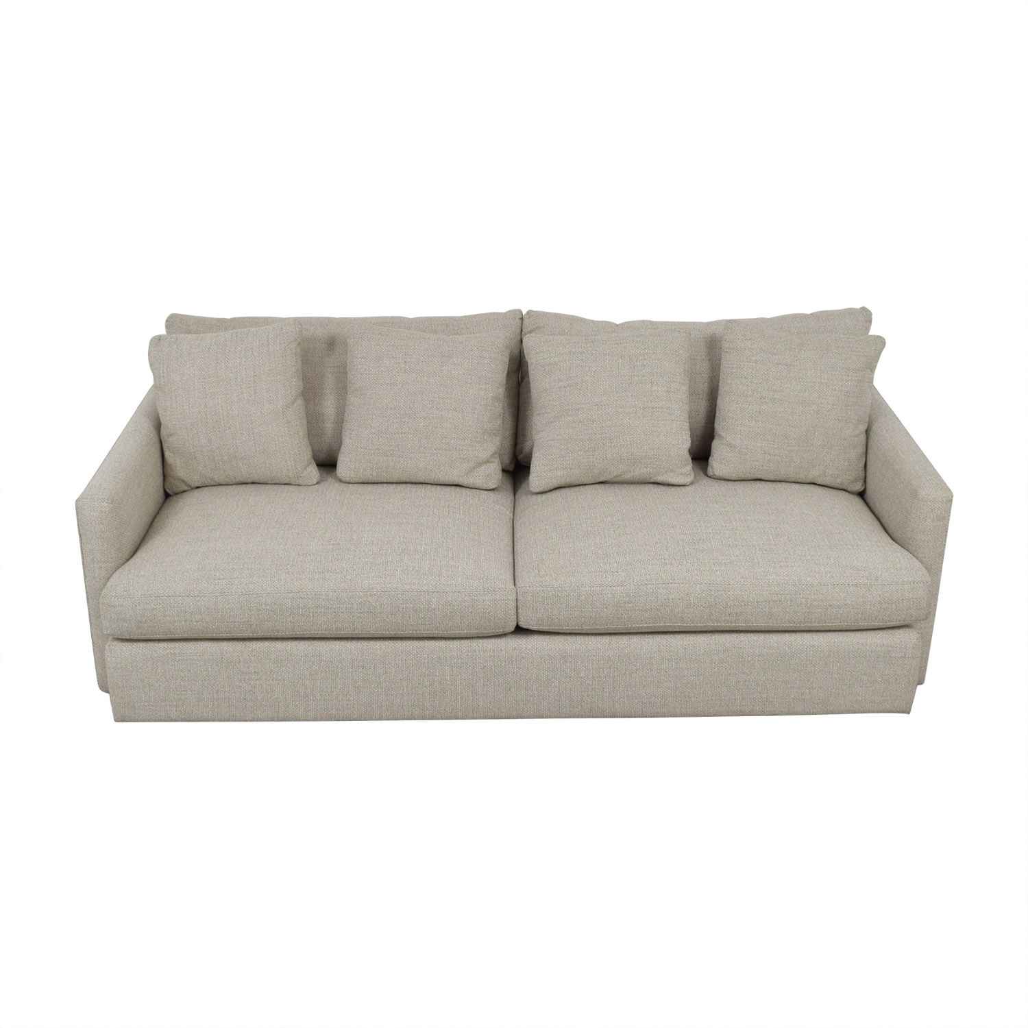 Crate & Barrel Crate & Barrel Lounge II Grey Two-Cushion Sofa discount