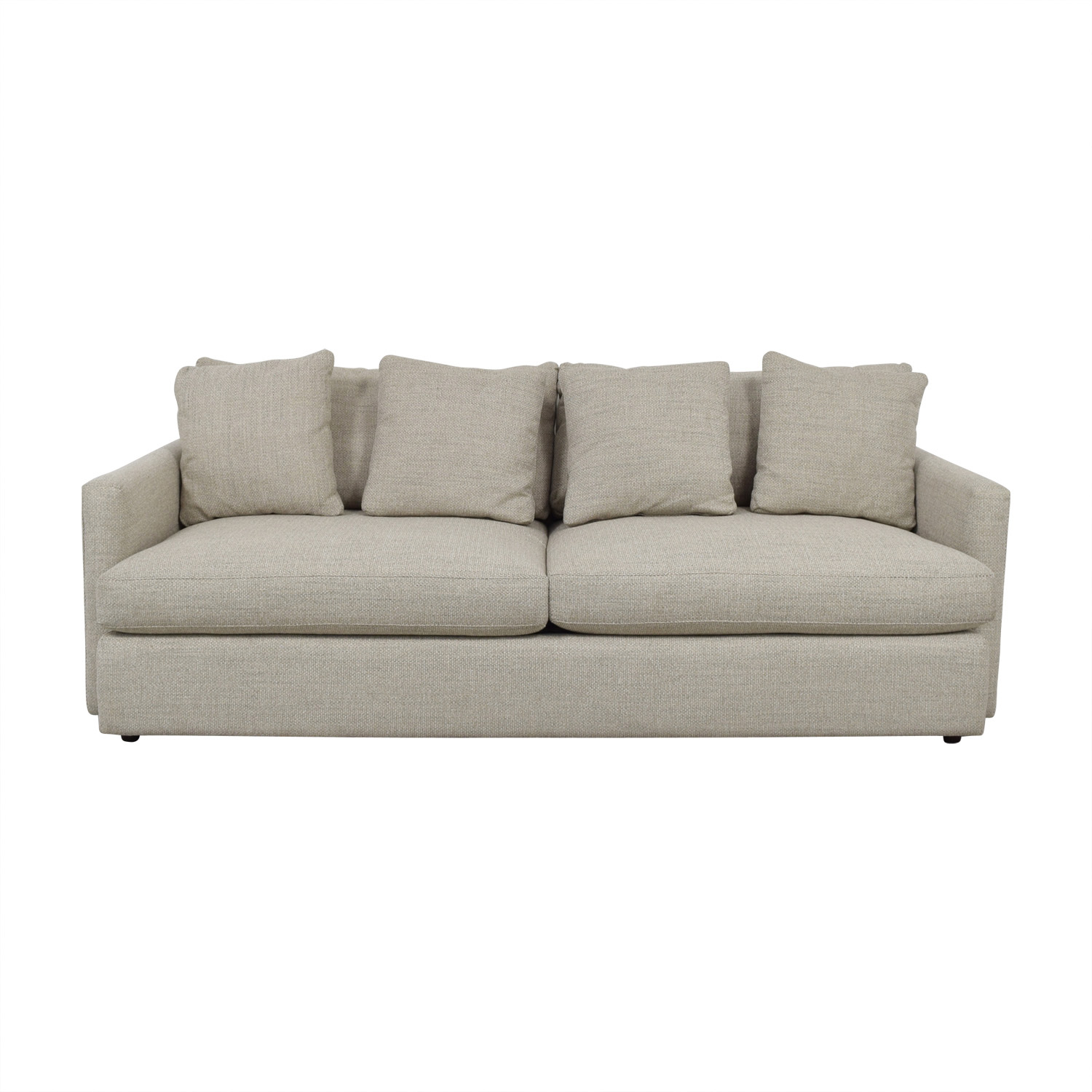 shop Crate & Barrel Lounge II Grey Two-Cushion Sofa Crate & Barrel