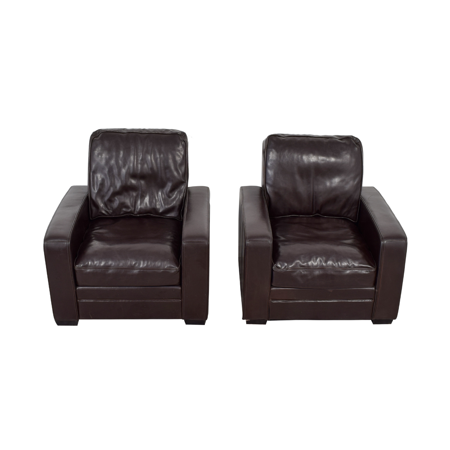 Overstock Accent Chairs: Overstock Overstock Brown Leather Accent Chairs