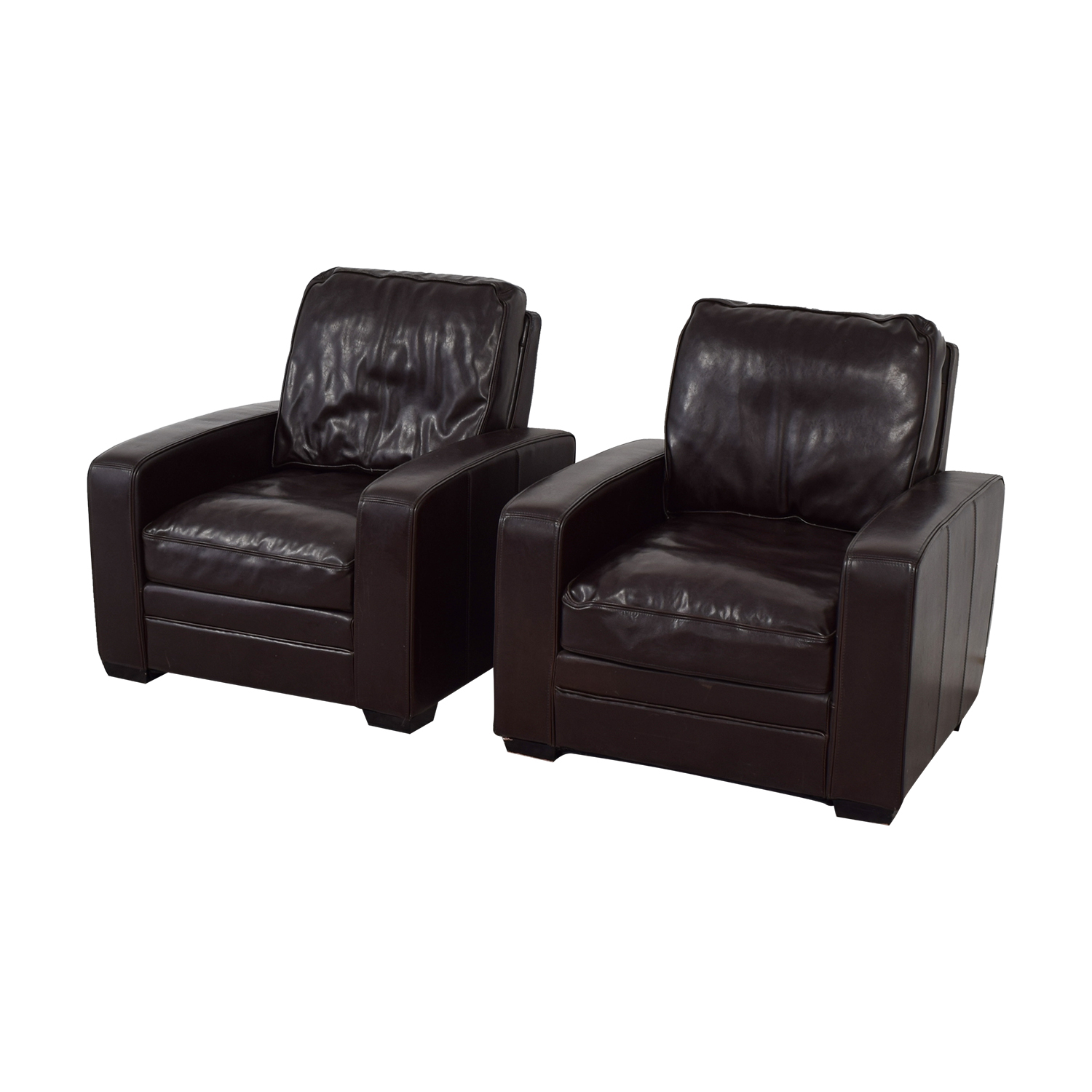 ... Shop Overstock Brown Leather Accent Chairs Overstock ...