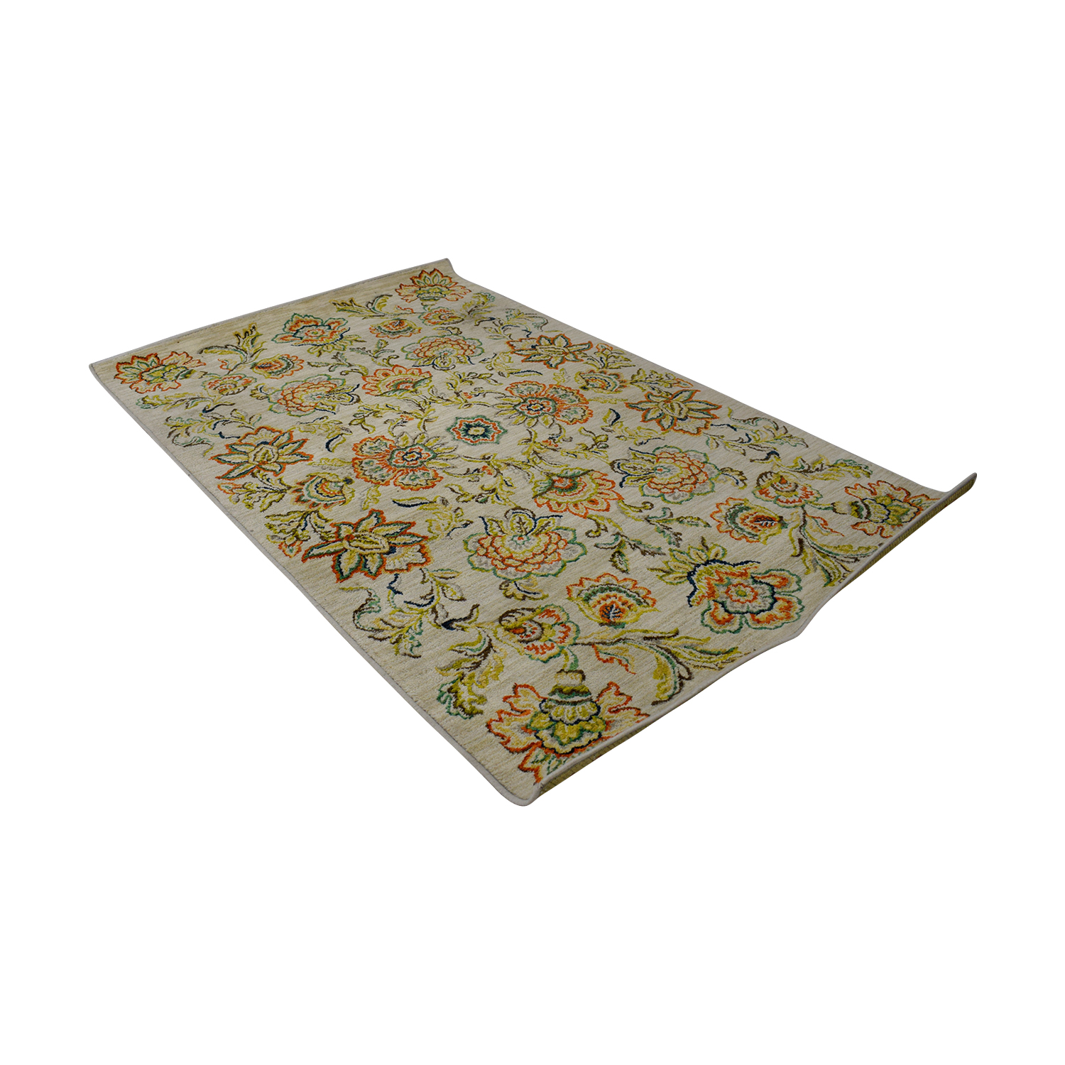 buy Wayfair Beige Multi-Colored Floral Rug Wayfair