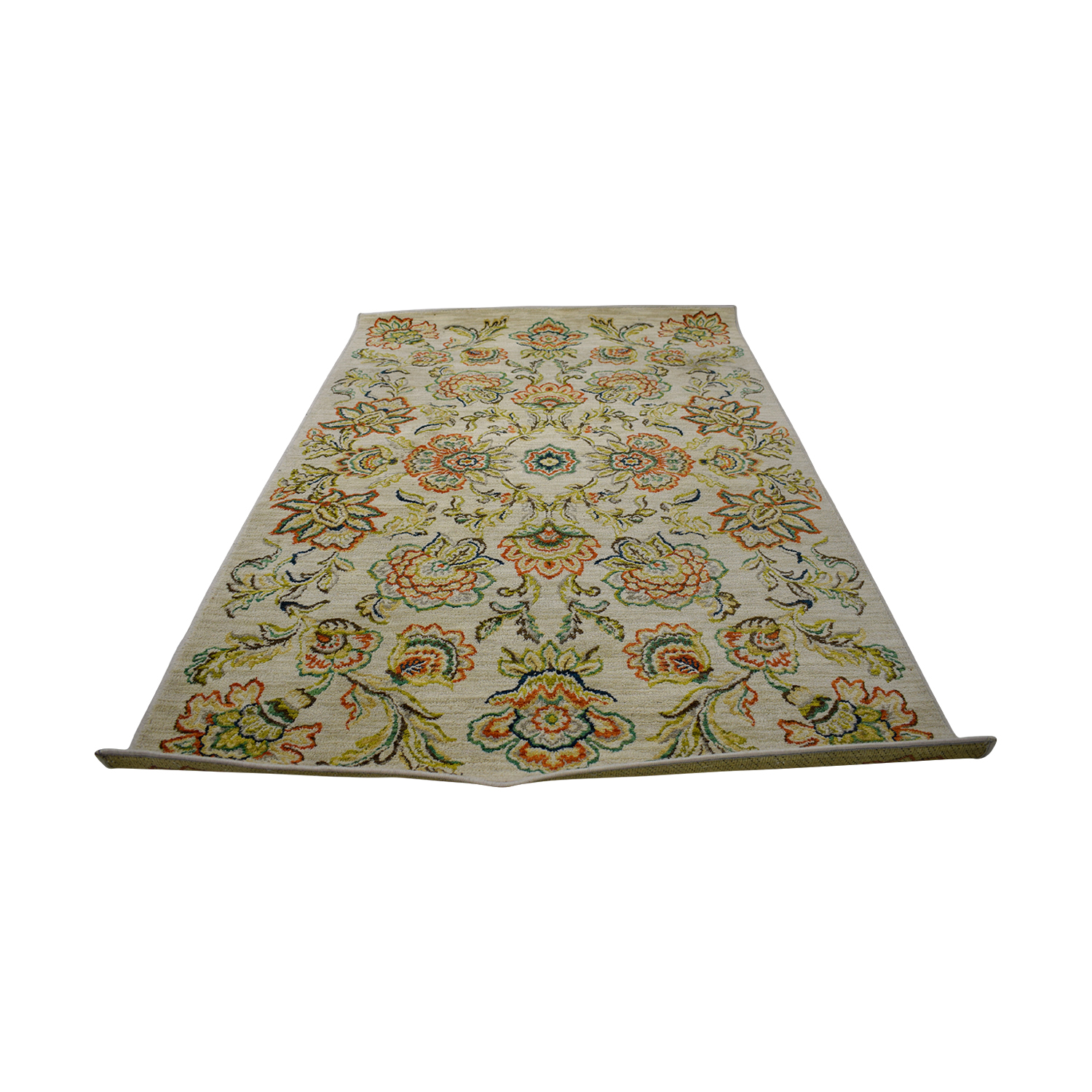 Wayfair Wayfair Beige Multi-Colored Floral Rug nyc
