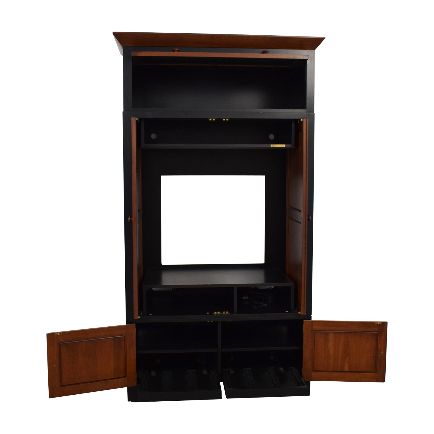 Ethan Allen Ethan Allen Wood Media Cabinet brown