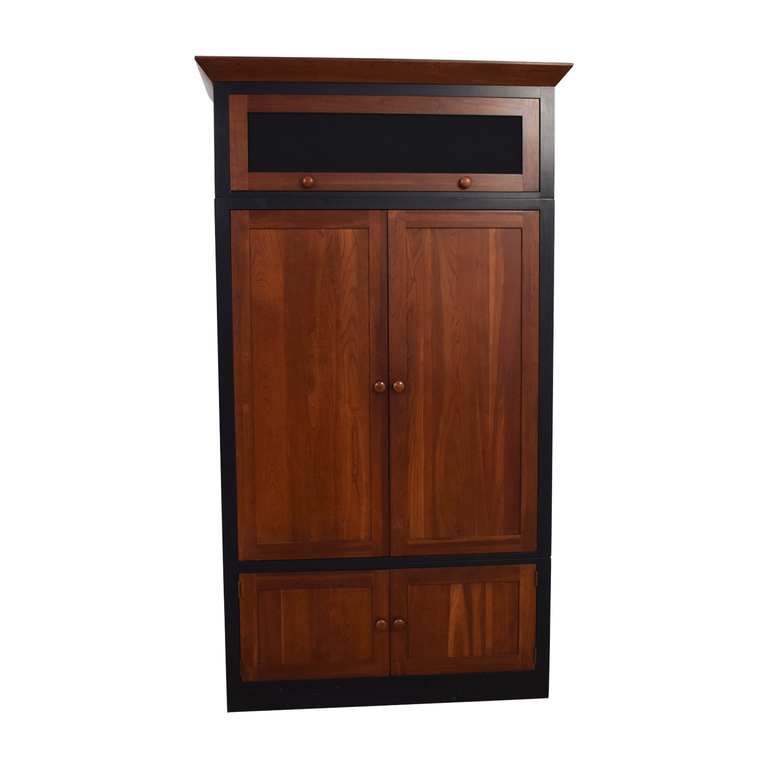 shop Ethan Allen Wood Media Cabinet Ethan Allen Storage