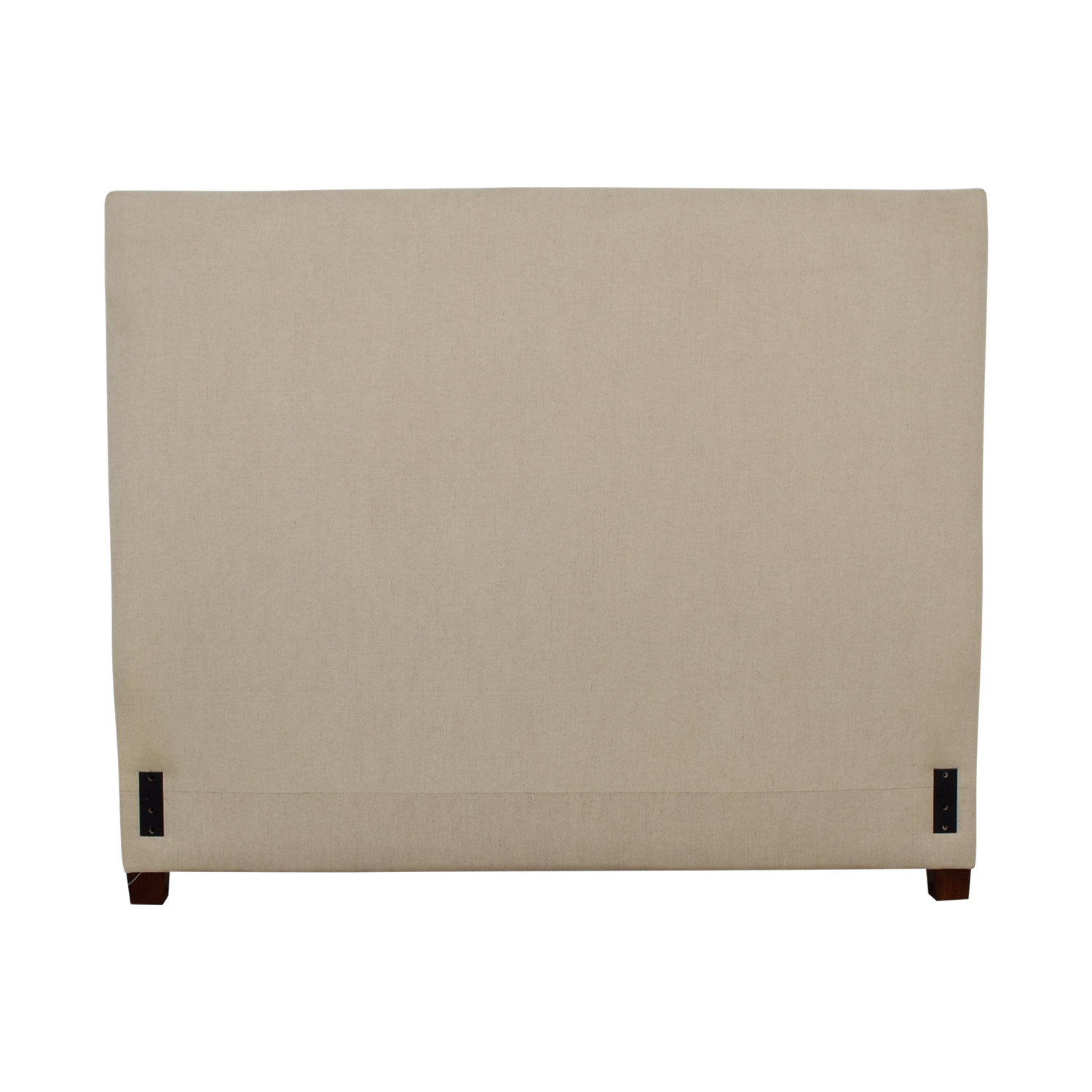 Pottery Barn Pottery Barn Square Beige Nailhead Upholstered Queen Headboard