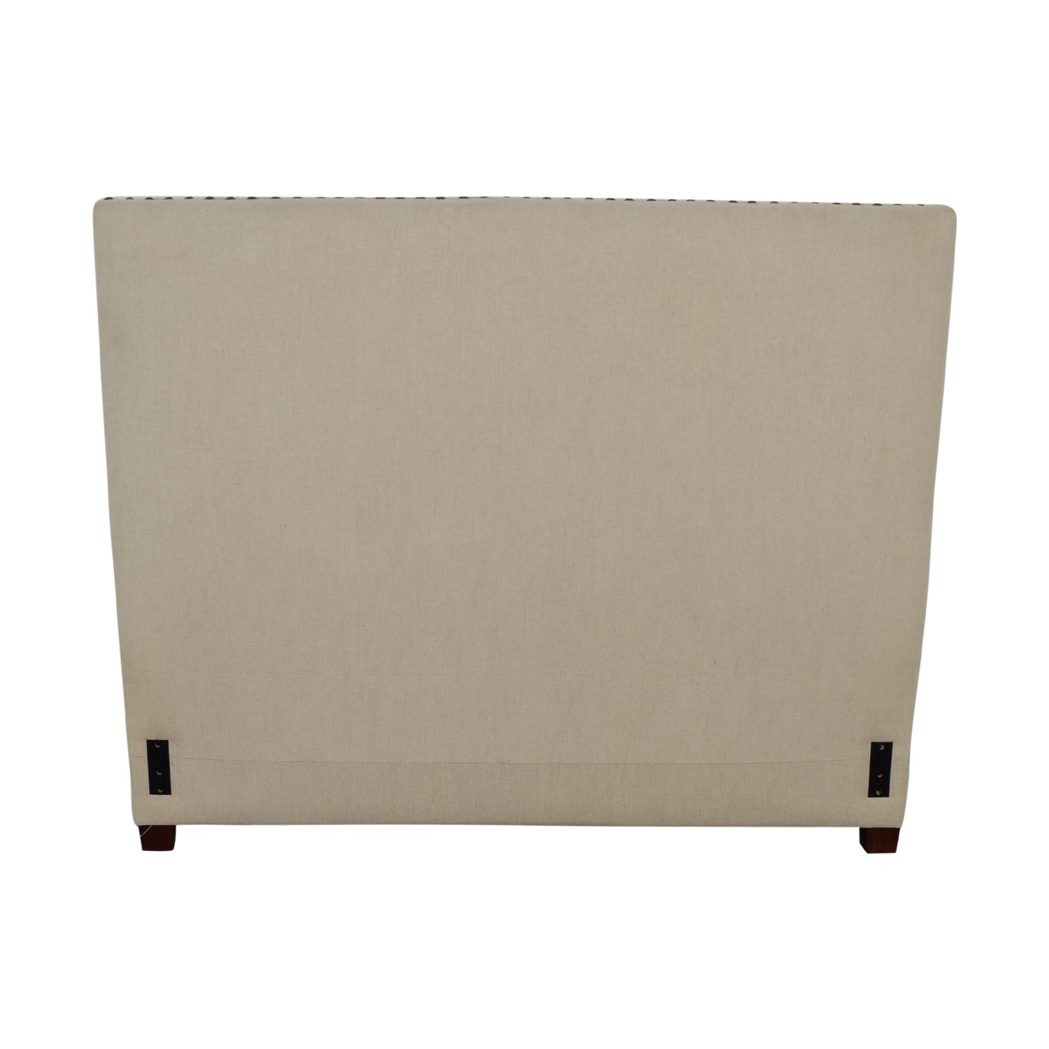 Pottery Barn Pottery Barn Square Beige Nailhead Upholstered Queen Headboard Beds
