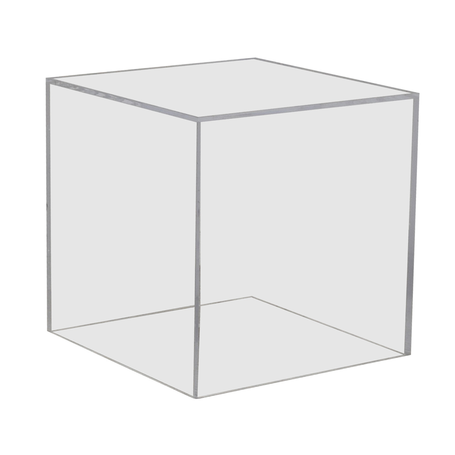 Admirable 90 Off Vintage Lucite Ghost Cube Side Table Tables Download Free Architecture Designs Remcamadebymaigaardcom