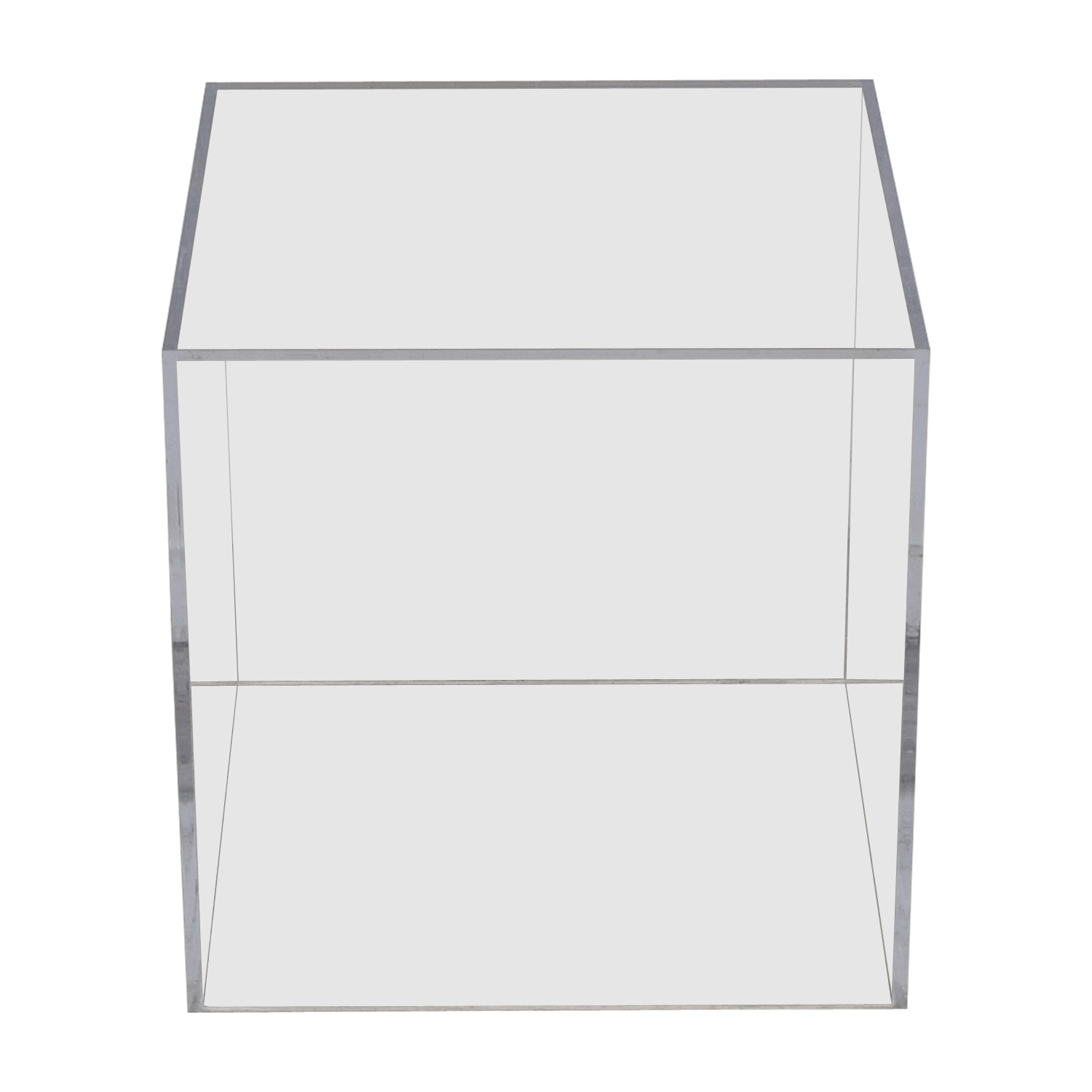 Vintage Lucite Ghost Cube Side Table / End Tables