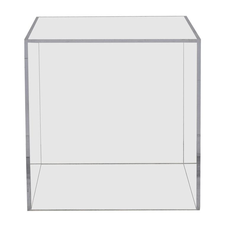 shop  Vintage Lucite Ghost Cube Side Table online