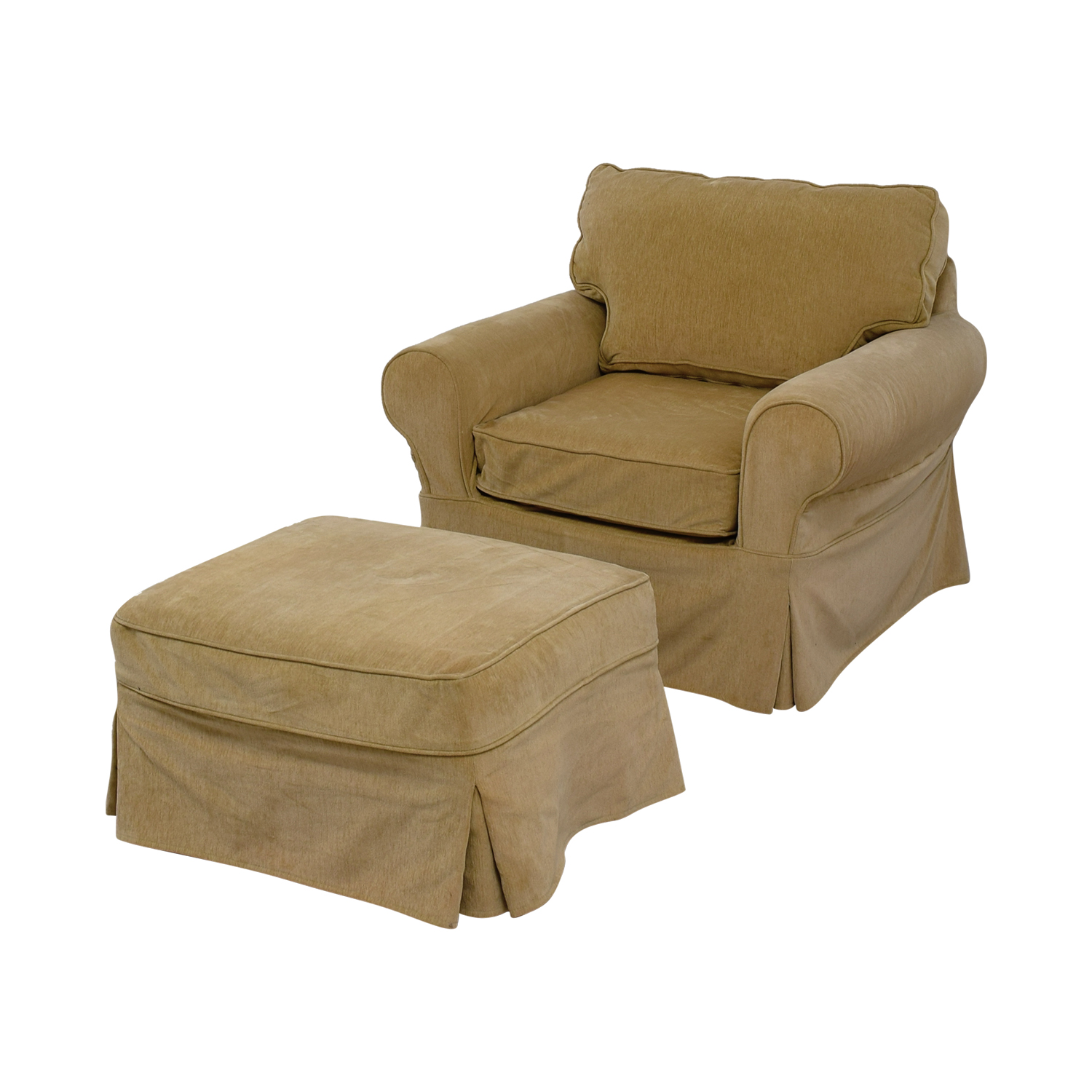Miraculous 76 Off Mitchell Gold Bob Williams Mitchell Gold Bob Williams Beige Accent Chair And Ottoman Chairs Home Remodeling Inspirations Propsscottssportslandcom