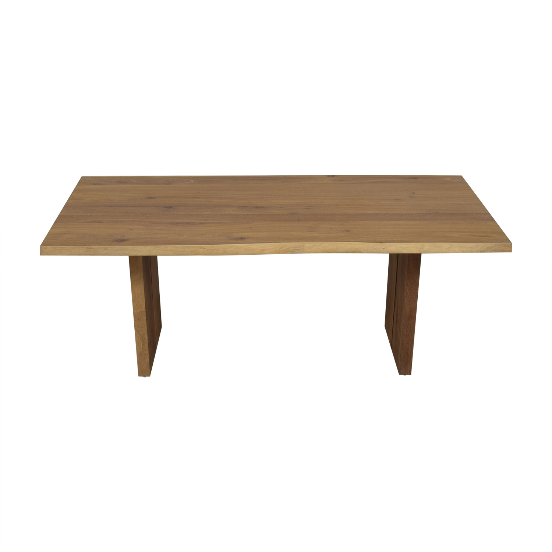 shop Crate & Barrel Dakota Wood Dining Table Crate & Barrel