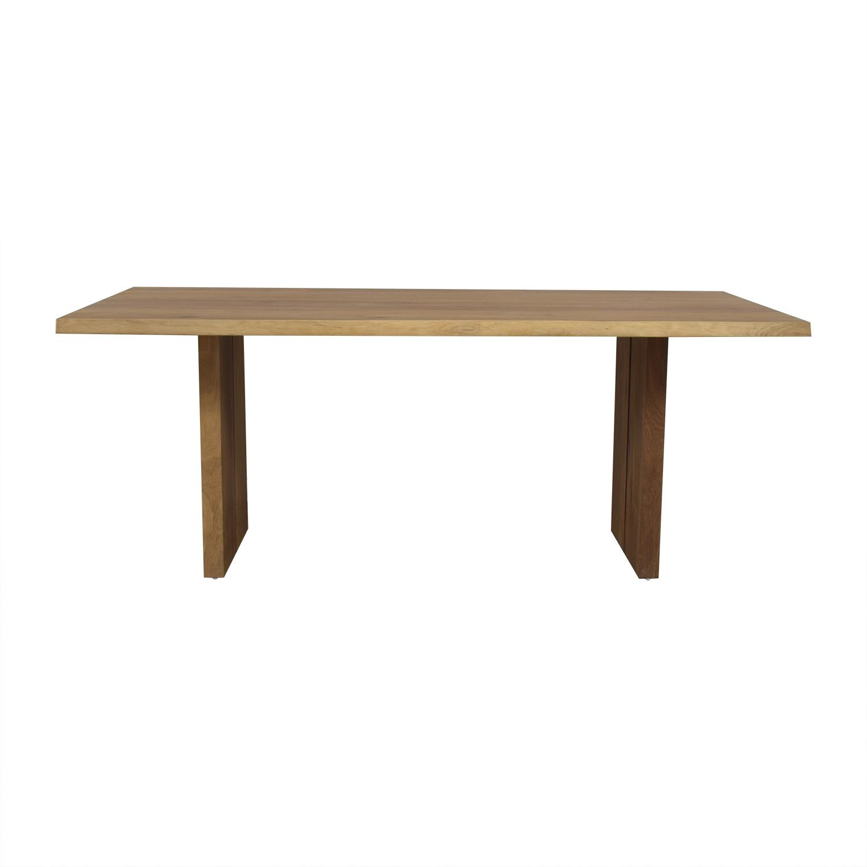 buy Crate & Barrel Dakota Wood Dining Table Crate & Barrel