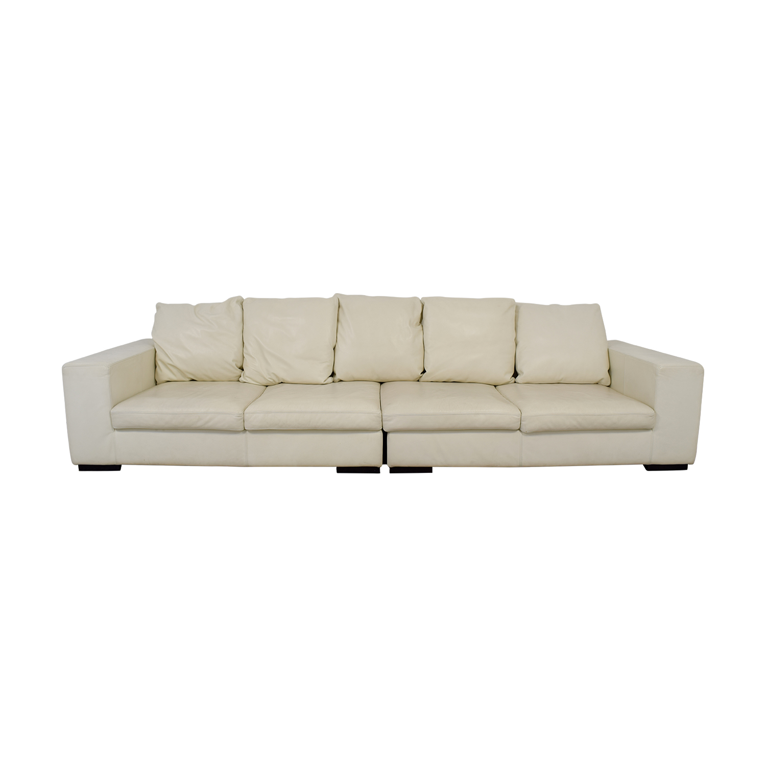 shop Giovanni Erba Giovanni Erba White Leather Modular Sofa online