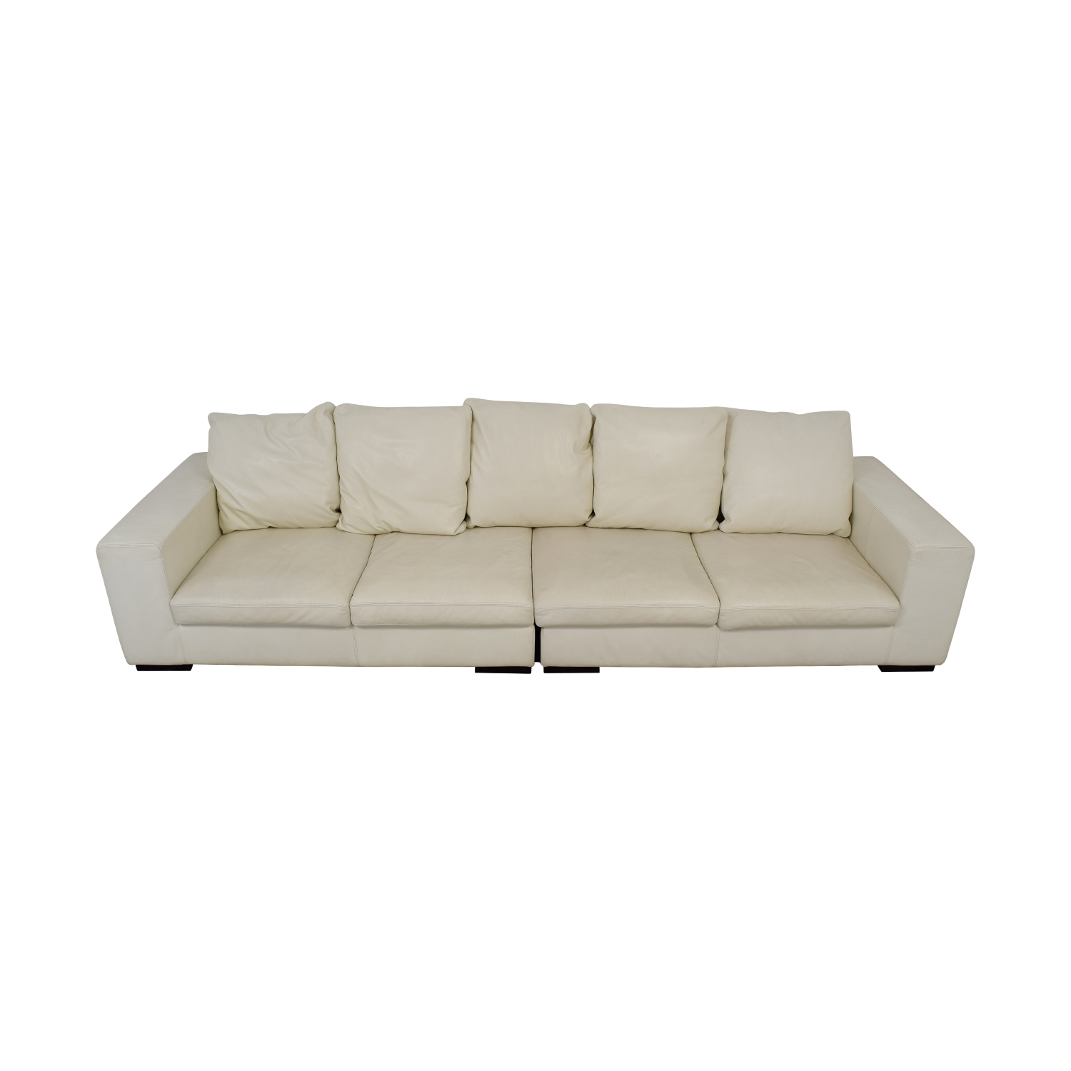 Giovanni Erba White Leather Modular Sofa