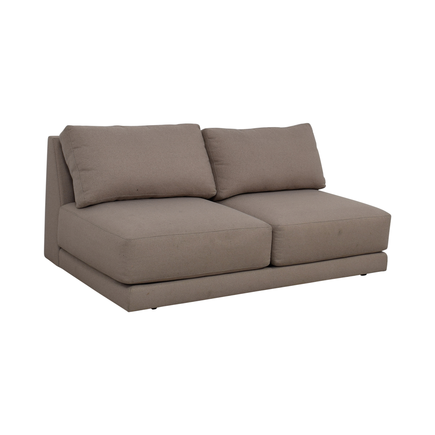 Bon ... Shop Crate U0026 Barrel Moda Grey Armless Loveseat Crate U0026 Barrel ...