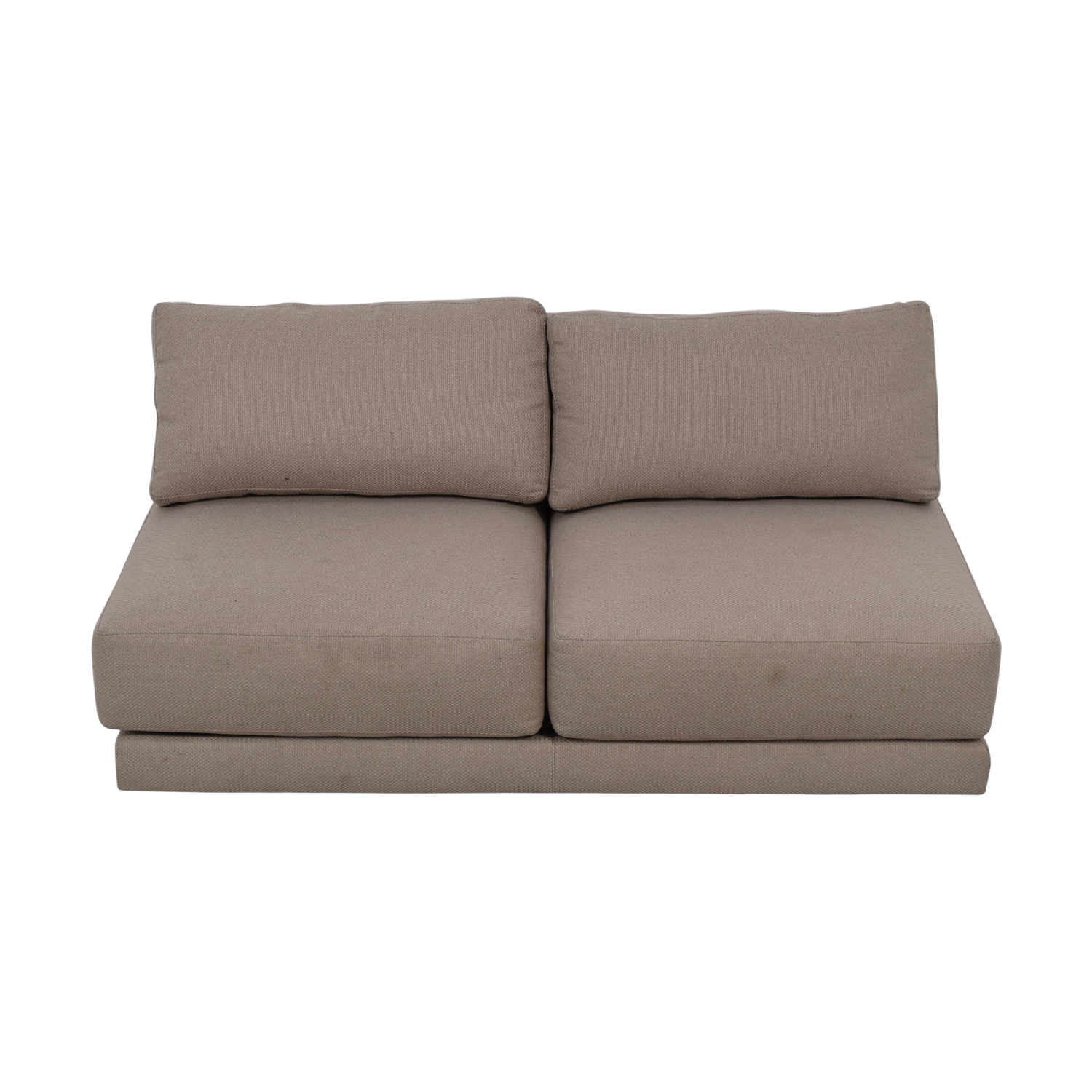 Crate & Barrel Moda Grey Armless Loveseat / Sofas
