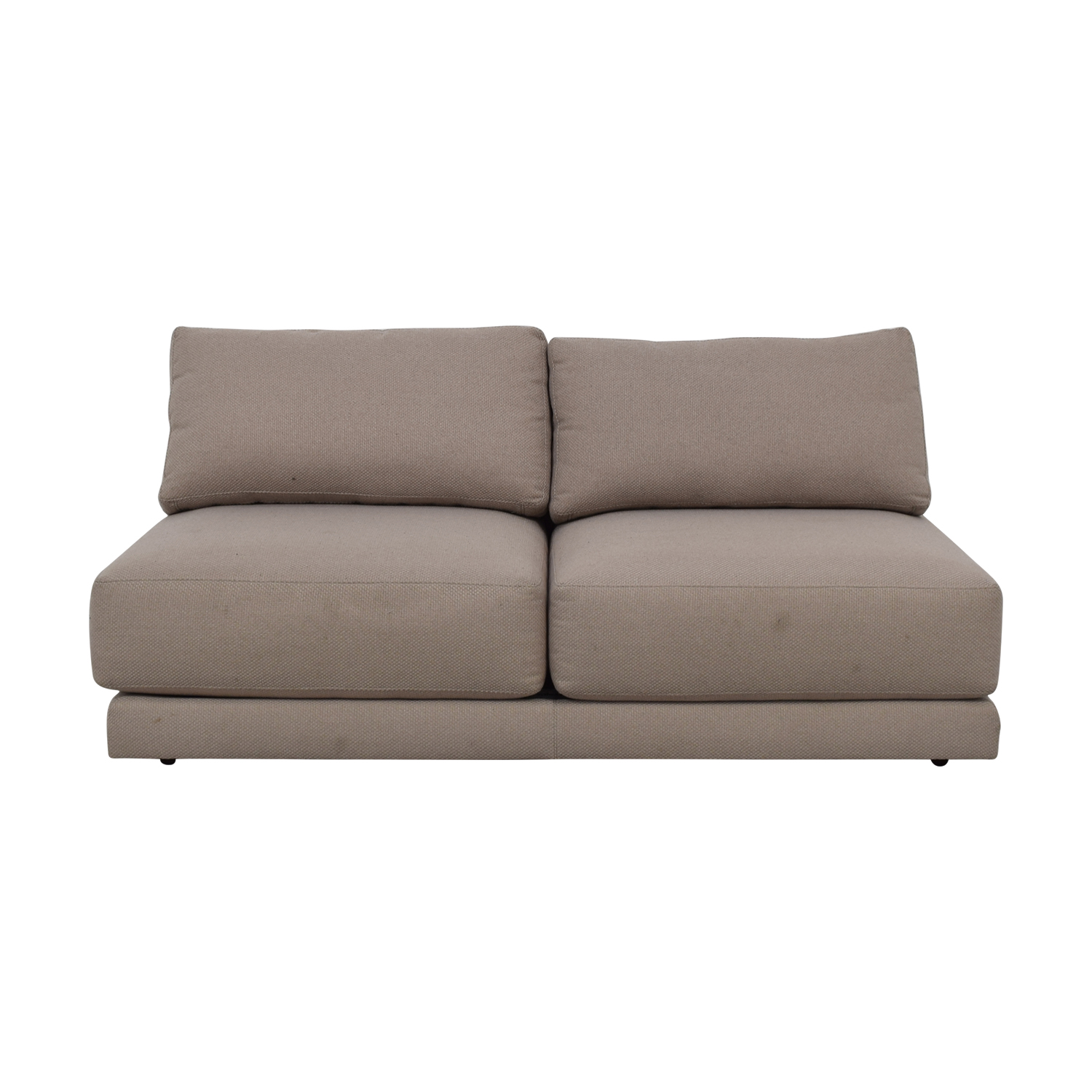 Crate & Barrel Moda Grey Armless Loveseat Crate & Barrel