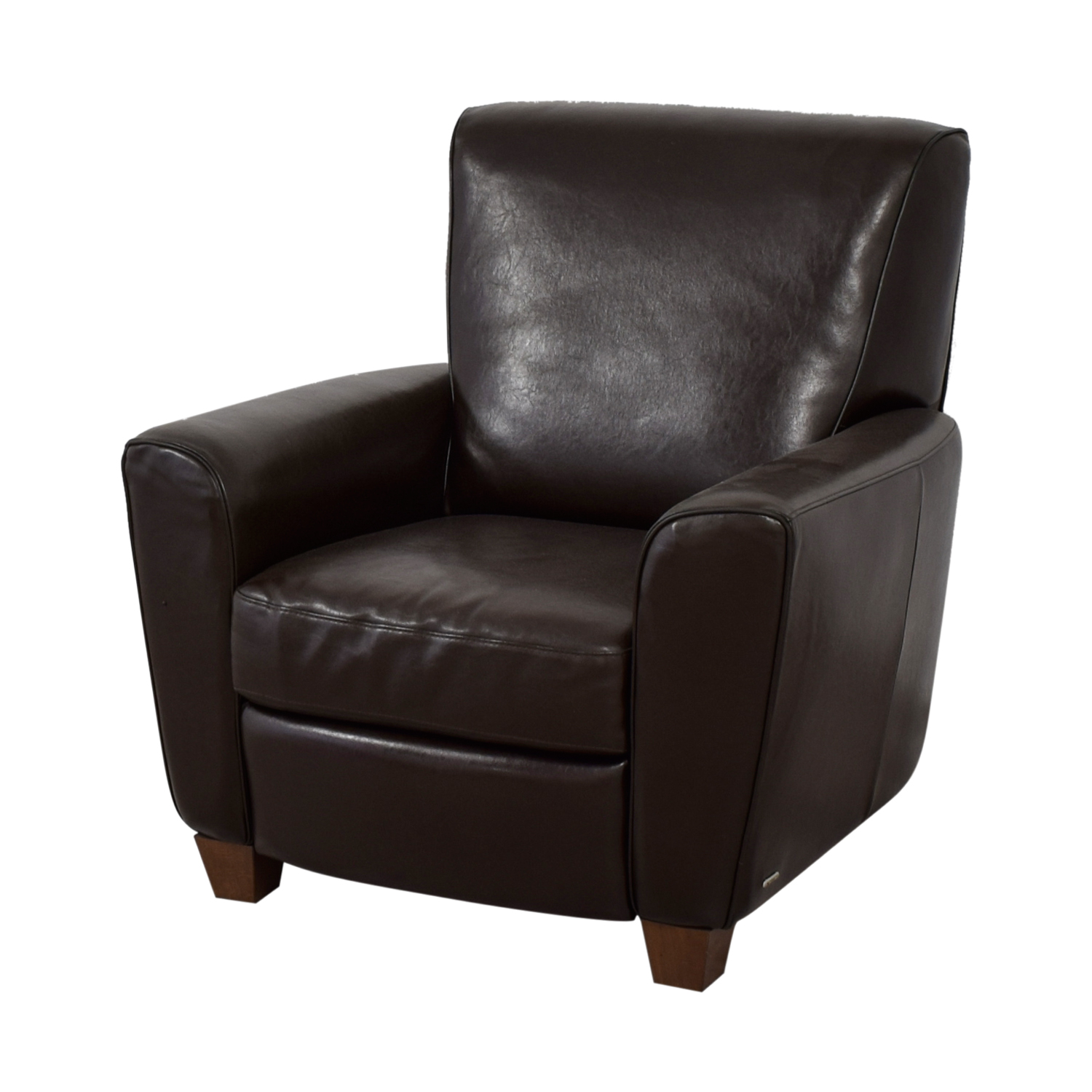 79 Off Natuzzi Natuzzi Brown Leather Recliner Chairs