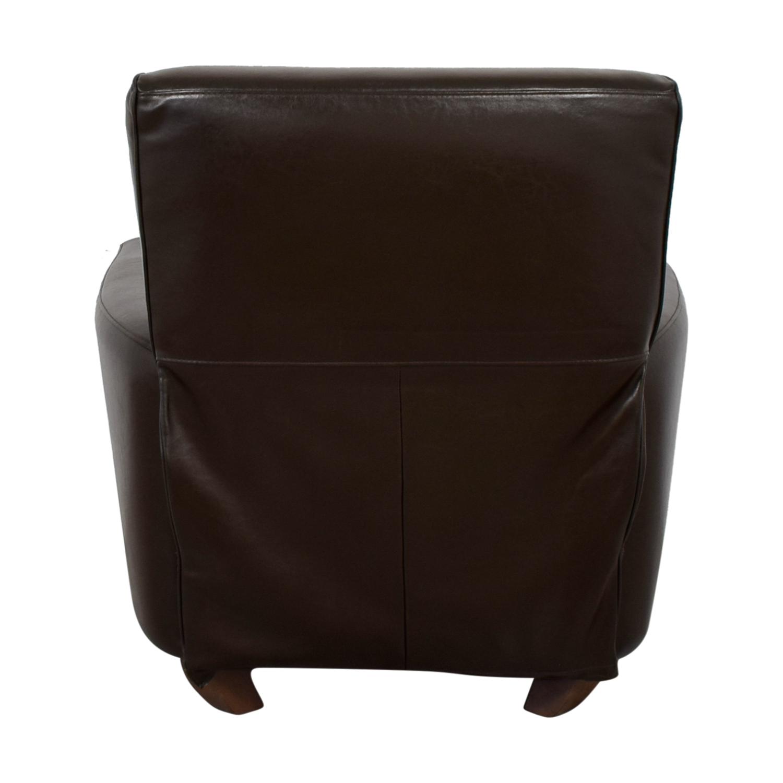 Natuzzi Brown Leather Recliner Natuzzi
