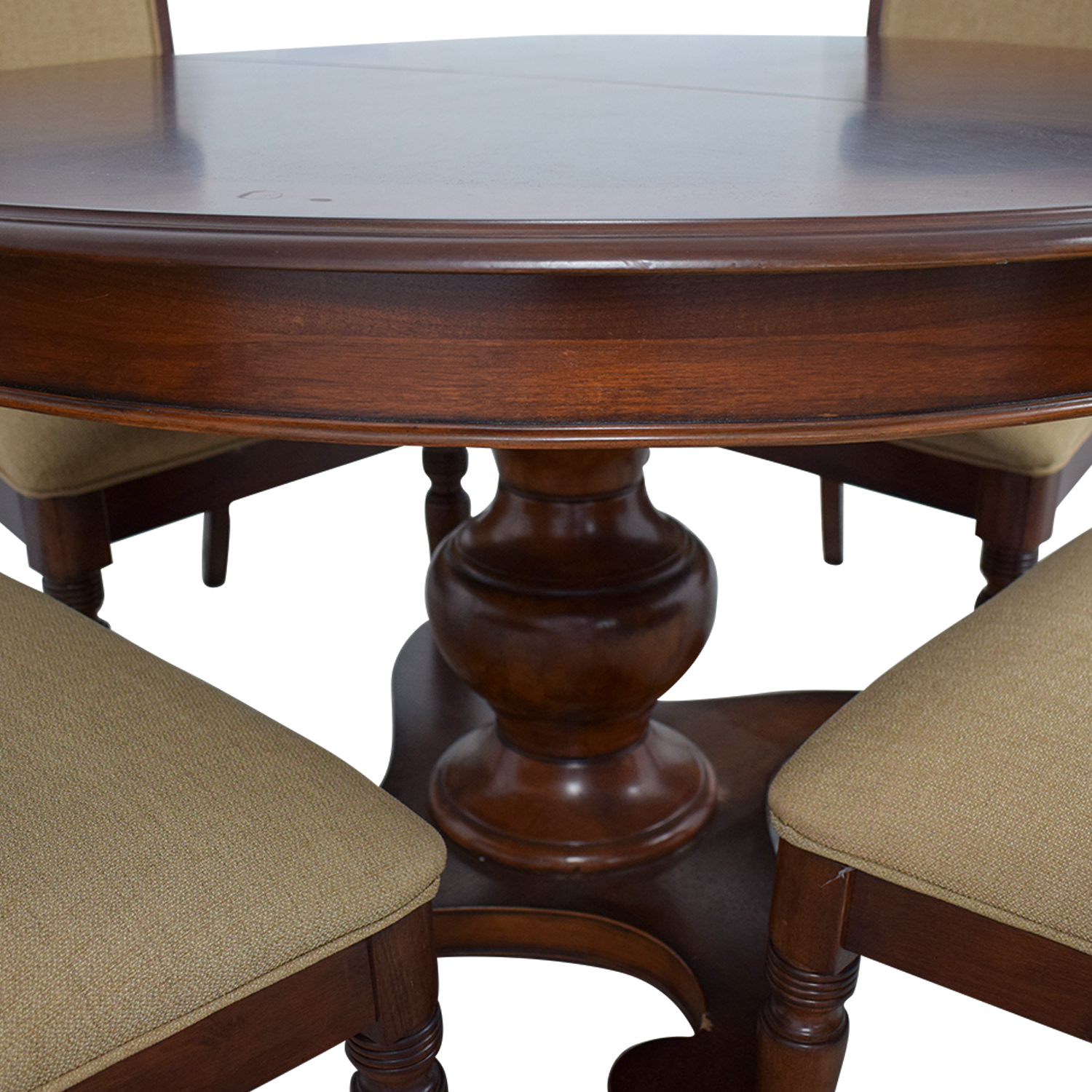 buy Macy's Wood Extendable Dining Set with Upholstered Chairs Macy's