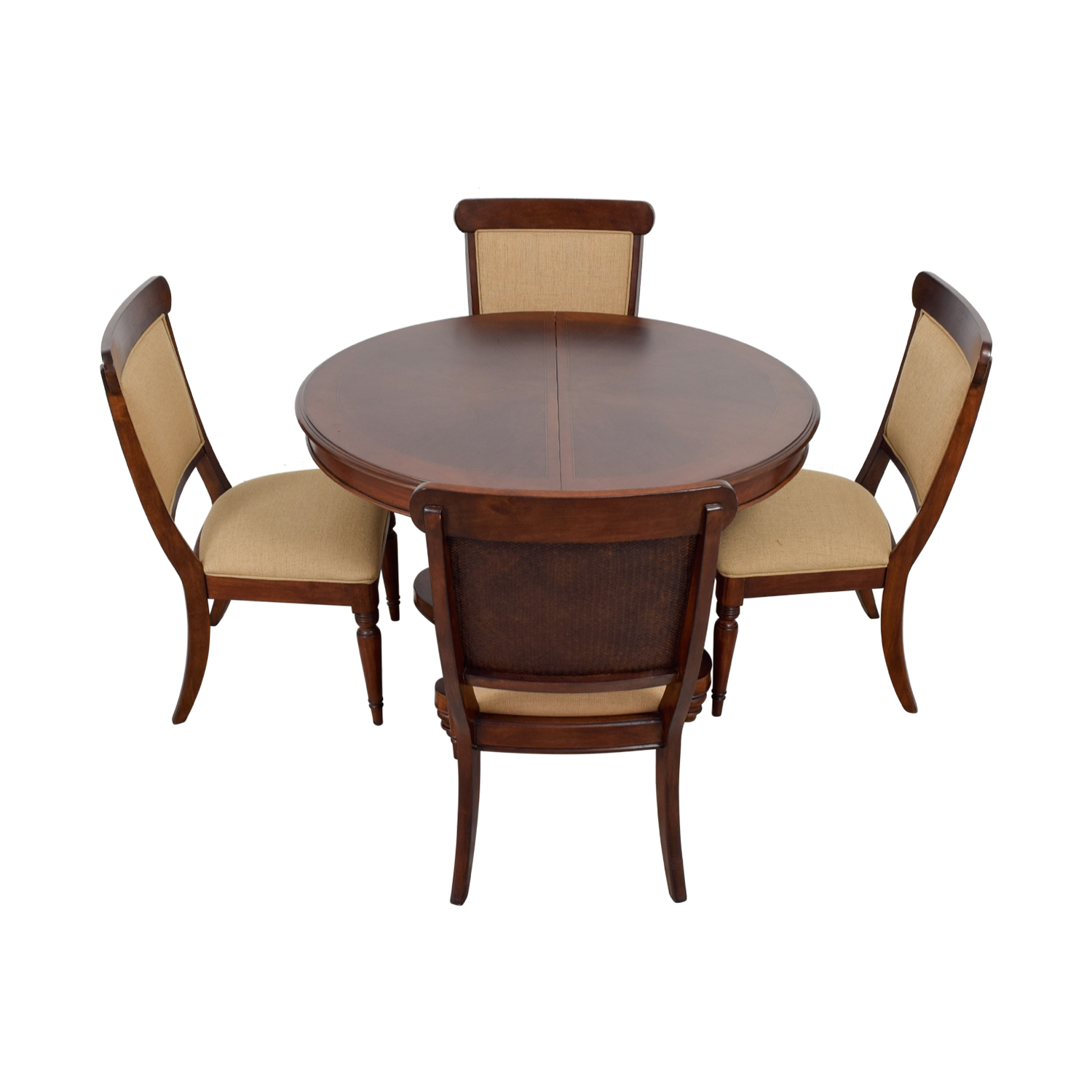 buy Macy's Wood Extendable Dining Set with Upholstered Chairs Macy's Sofas