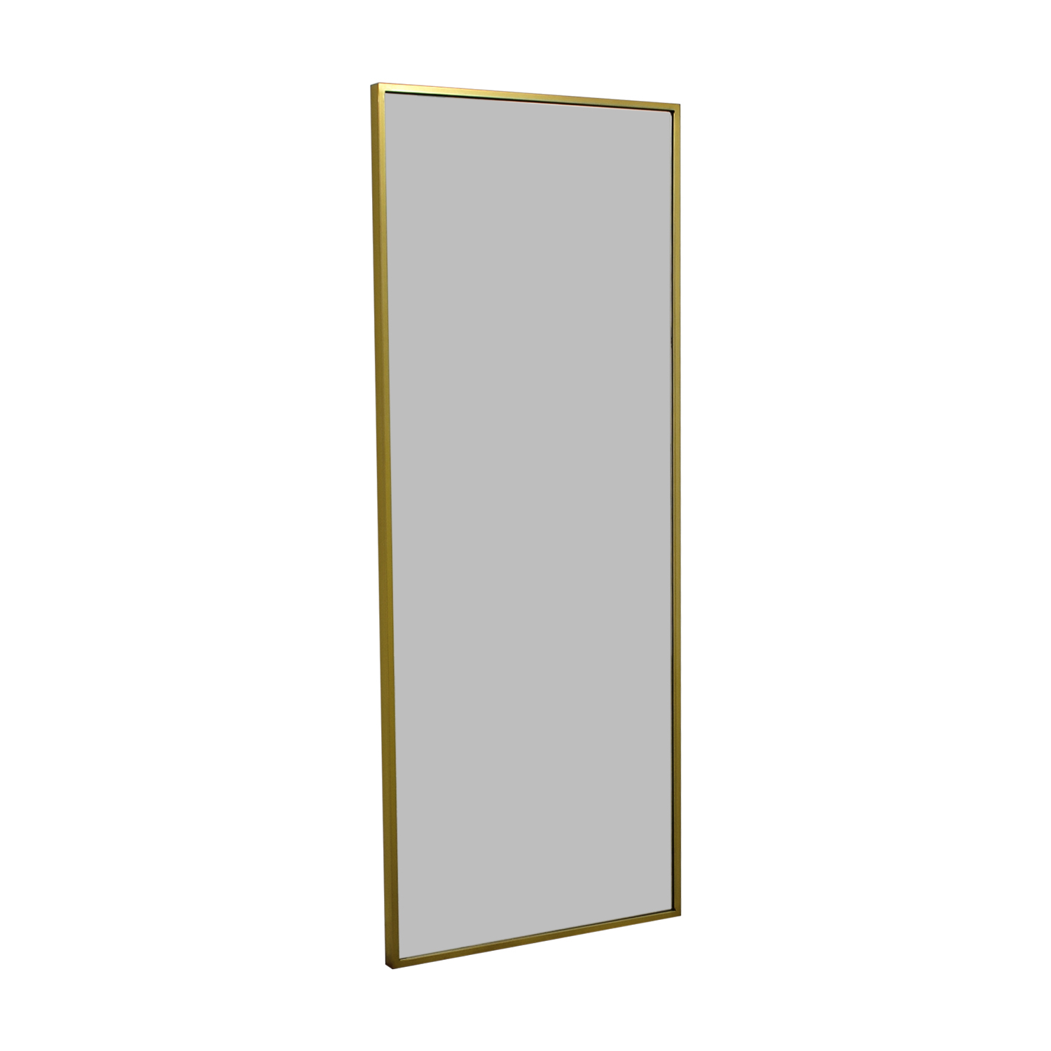 West Elm West Elm Metal Framed Floor Mirror Storage