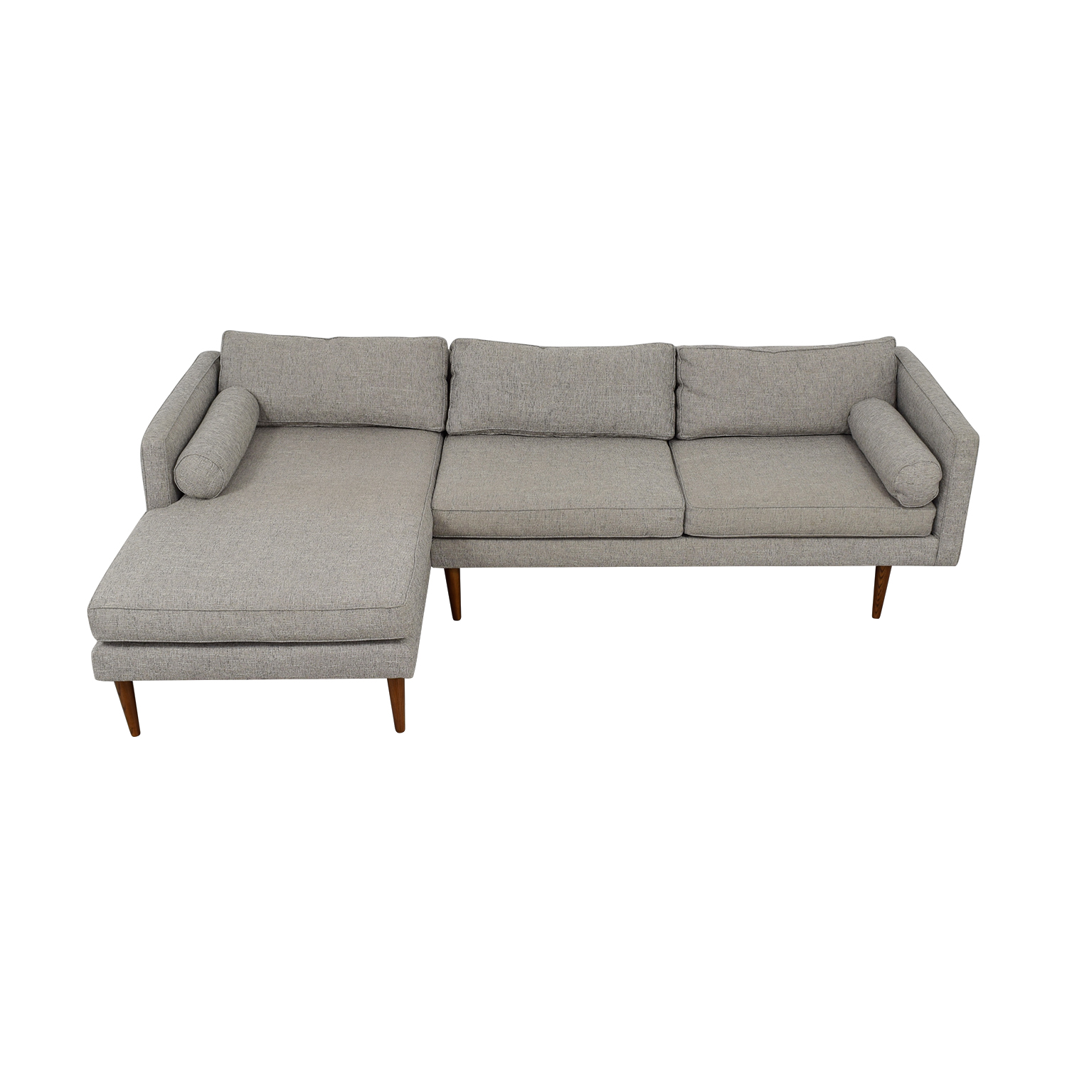 West Elm Light Grey Chaise Sectional / Sectionals