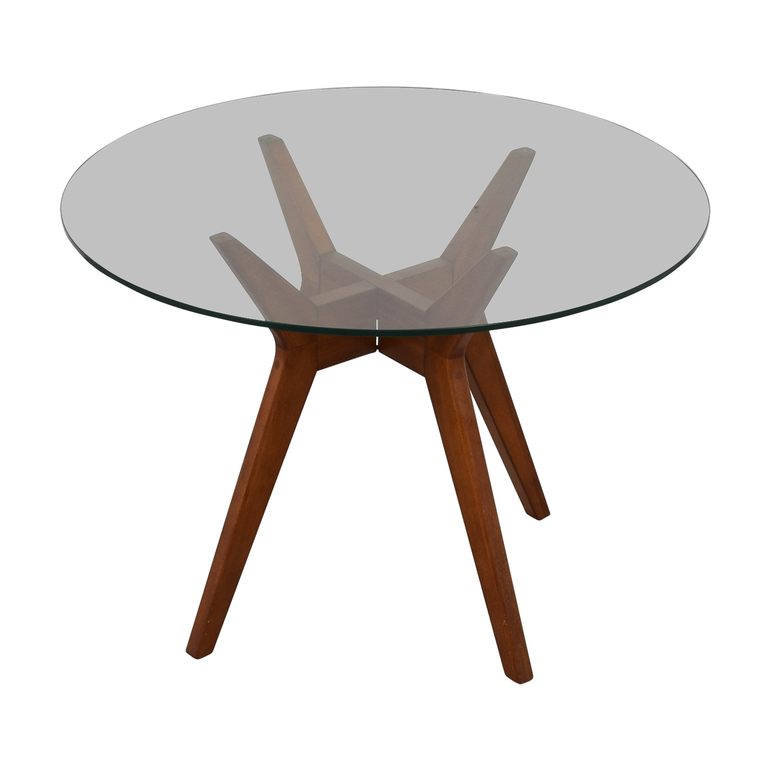 OFF West Elm West Elm Round Glass Dining Table Chairs - West elm table and chairs